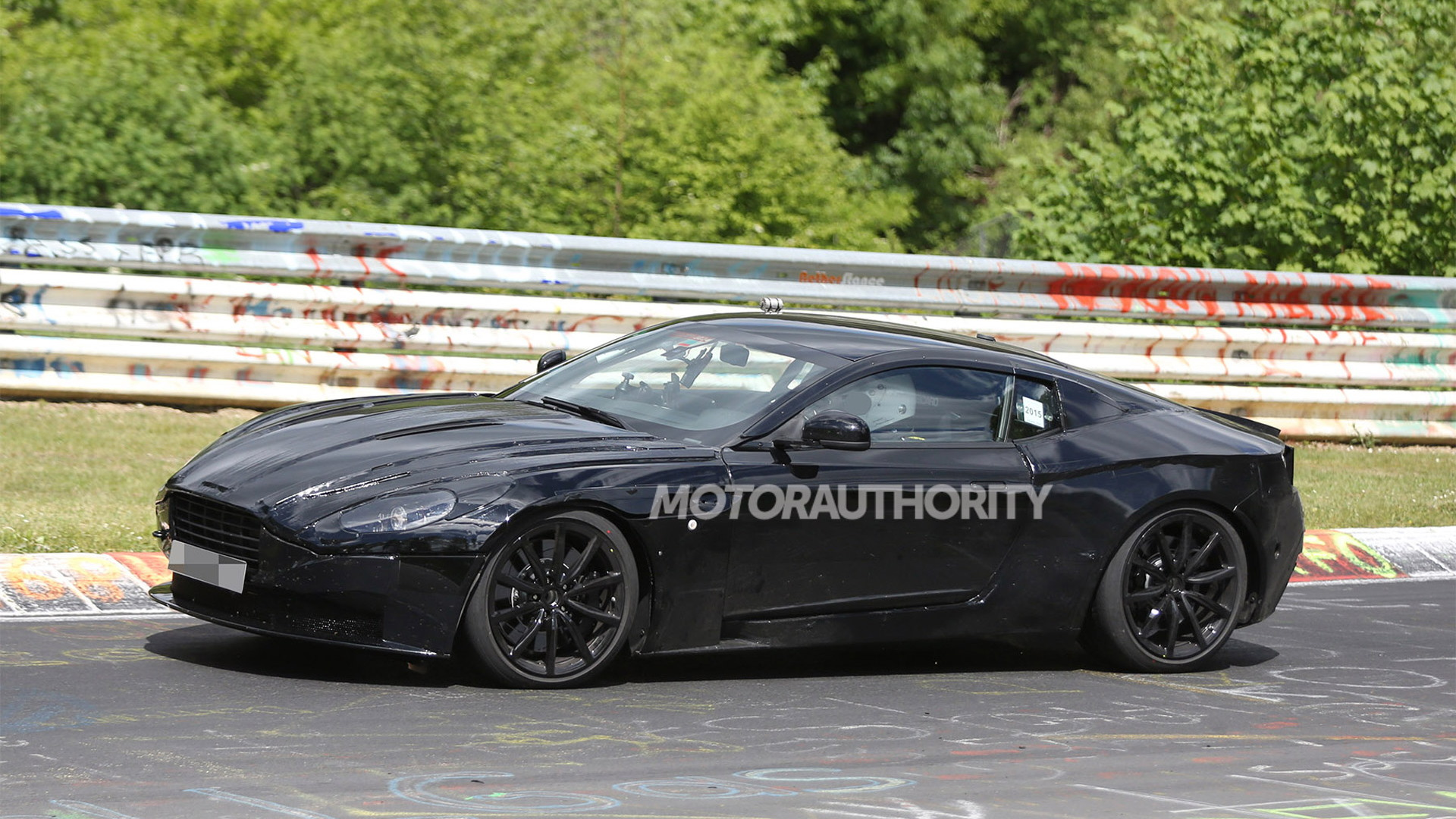 2017 Aston Martin DB11 (DB9 replacement) spy shots - Image via S. Baldauf/SB-Medien