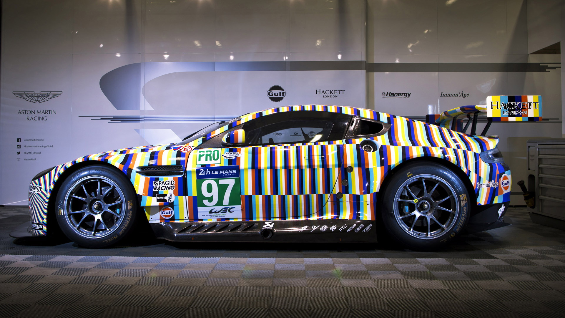 2015 Aston Martin Vantage GTE art car by Tobias Rahberger