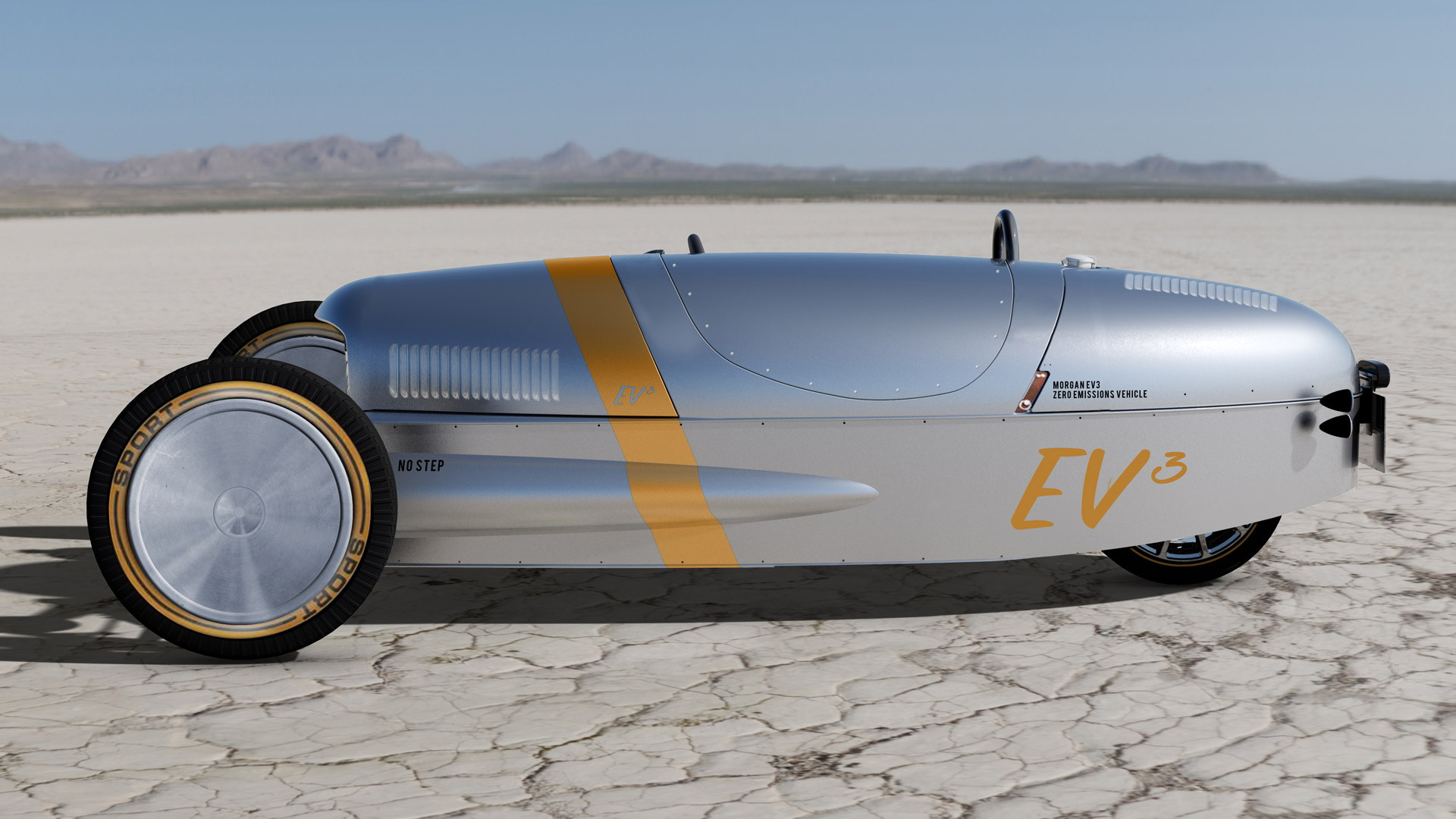 Morgan EV3 electric 3 Wheeler prototype