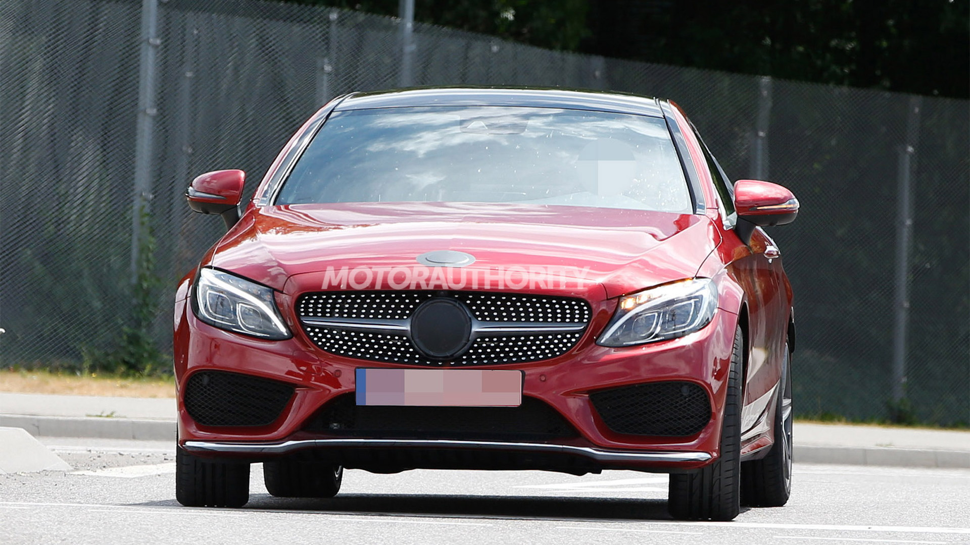 2017 Mercedes-Benz C-Class Coupe spy shots - Image via S. Baldauf/SB-Medien