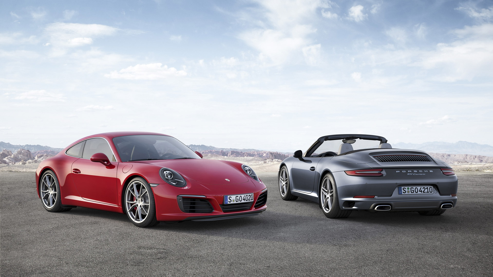2017 Porsche 911 Carrera S and Carrera Cabriolet