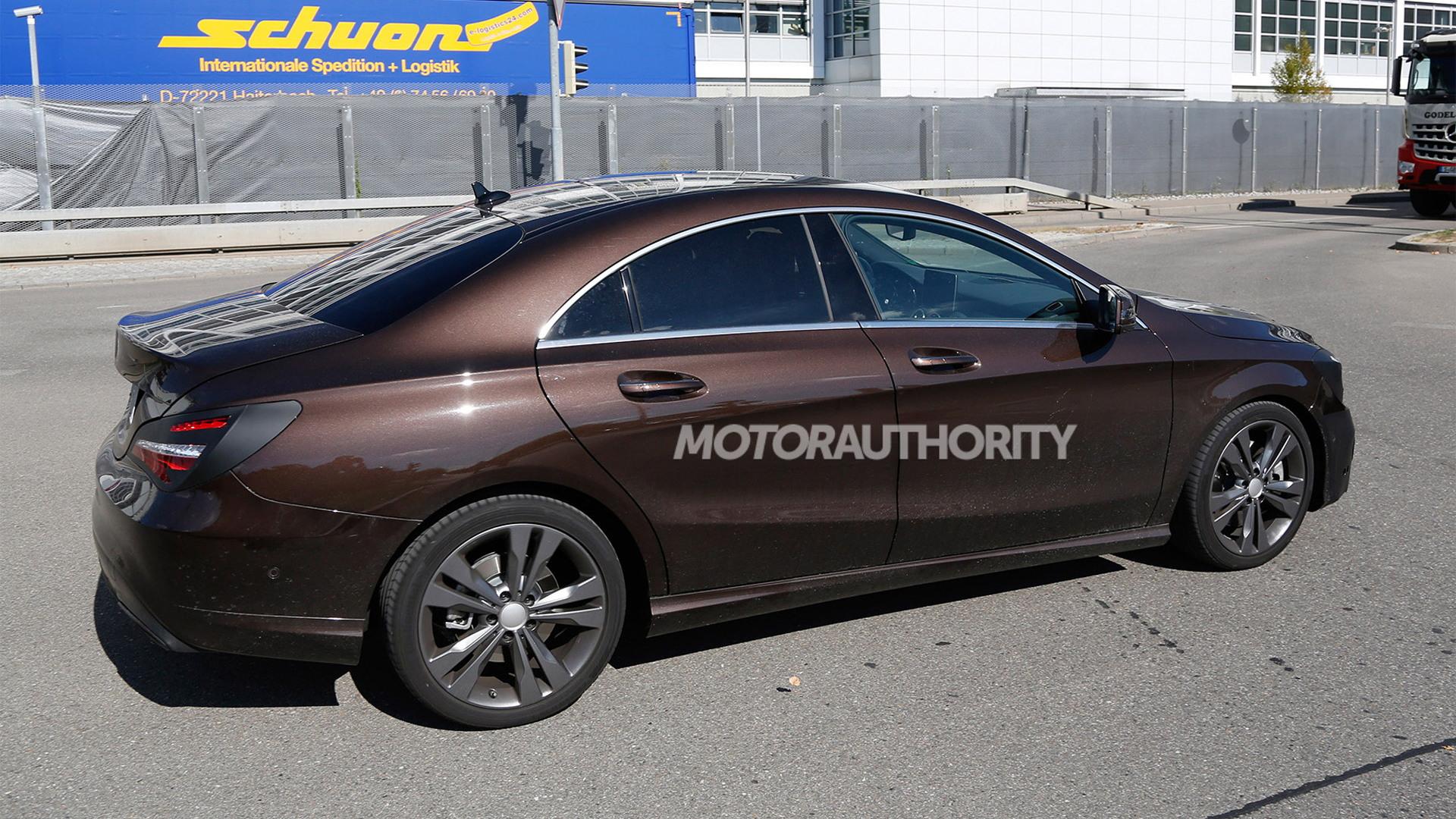 2017 Mercedes-Benz CLA-Class facelift spy shots - Image via S. Baldauf/SB-Medien