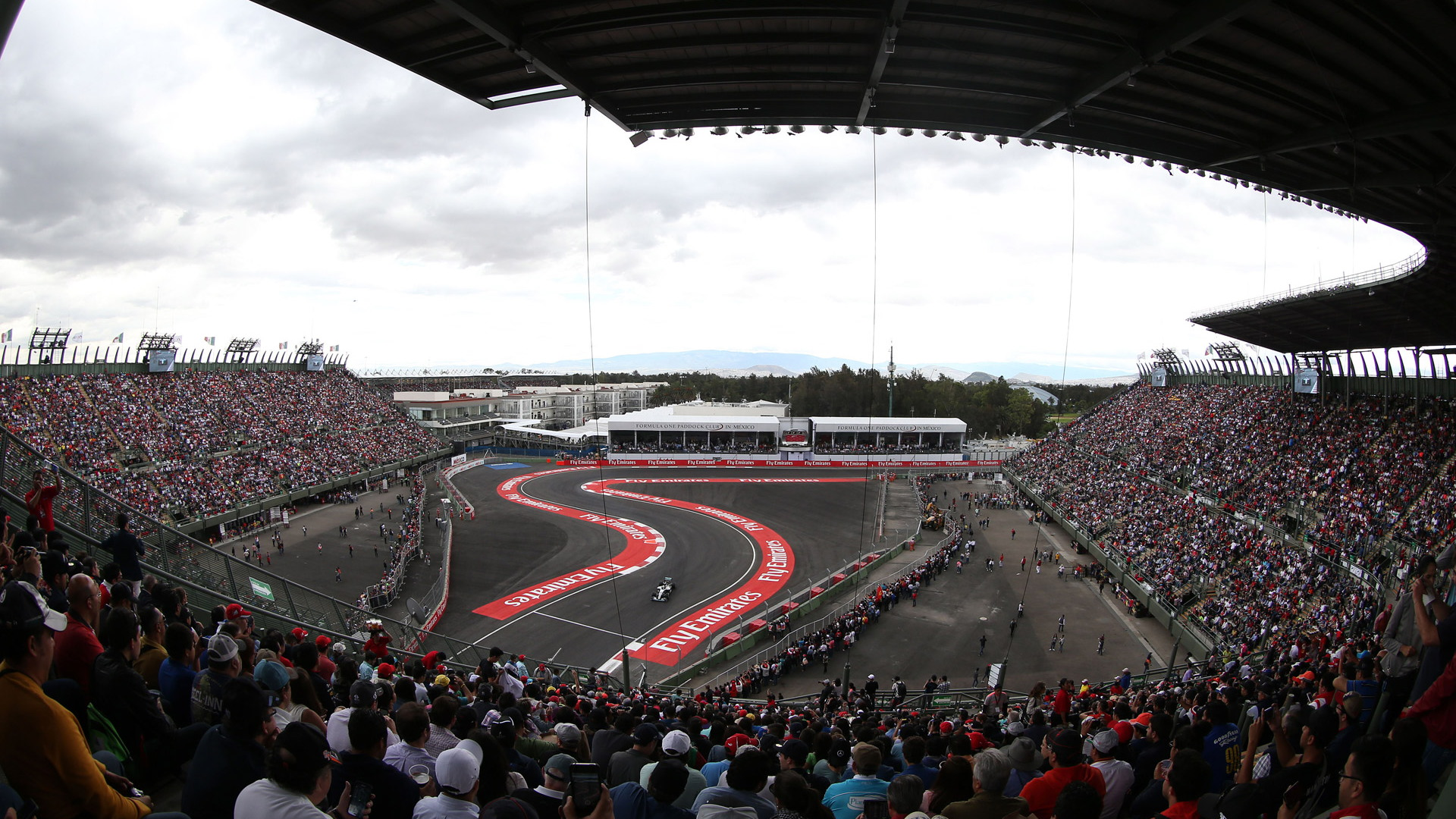 Autodromo Hermanos Rodriguez, home of the Formula 1 Mexican Grand Prix