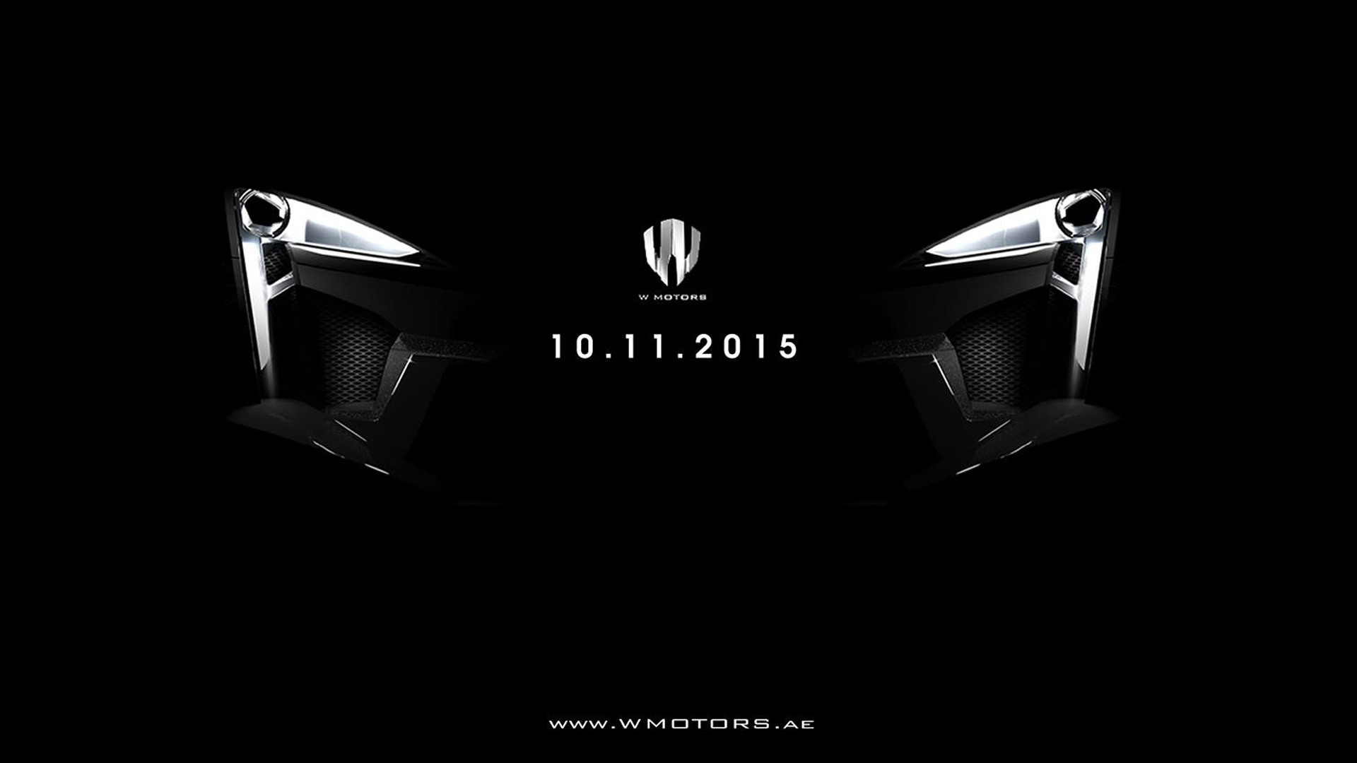 Teaser for W Motors Fenyr Supersport debuting at 2015 Dubai Motor Show
