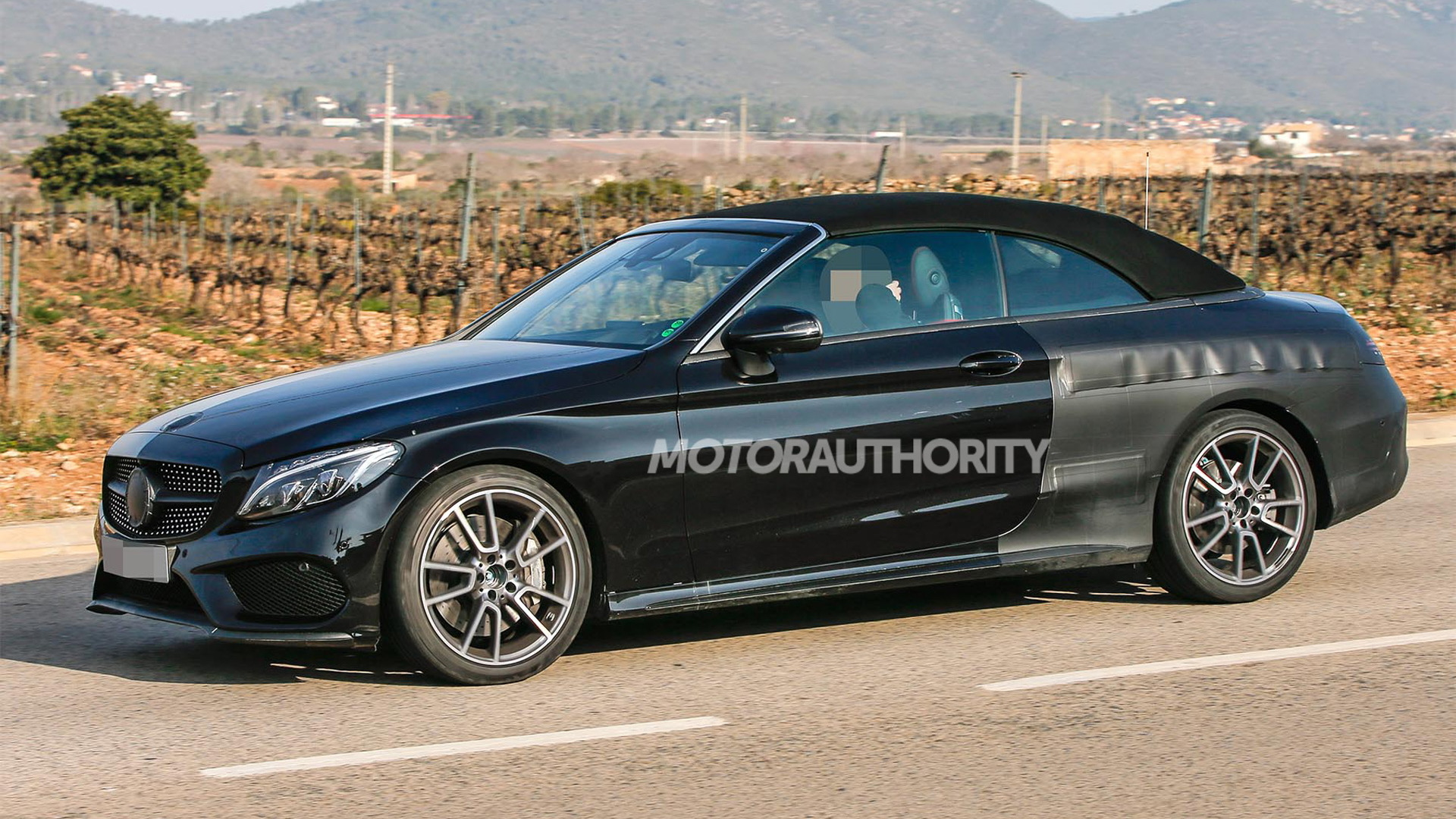2017 Mercedes-AMG C43 Cabriolet spy shots - Image via S. Baldauf/SB-Medien
