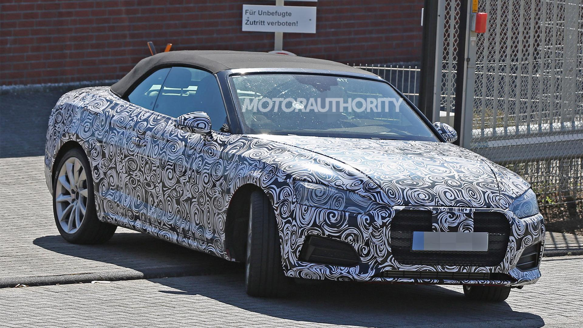 2018 Audi S5 Cabriolet spy shots - Image via S. Baldauf/SB-Medien
