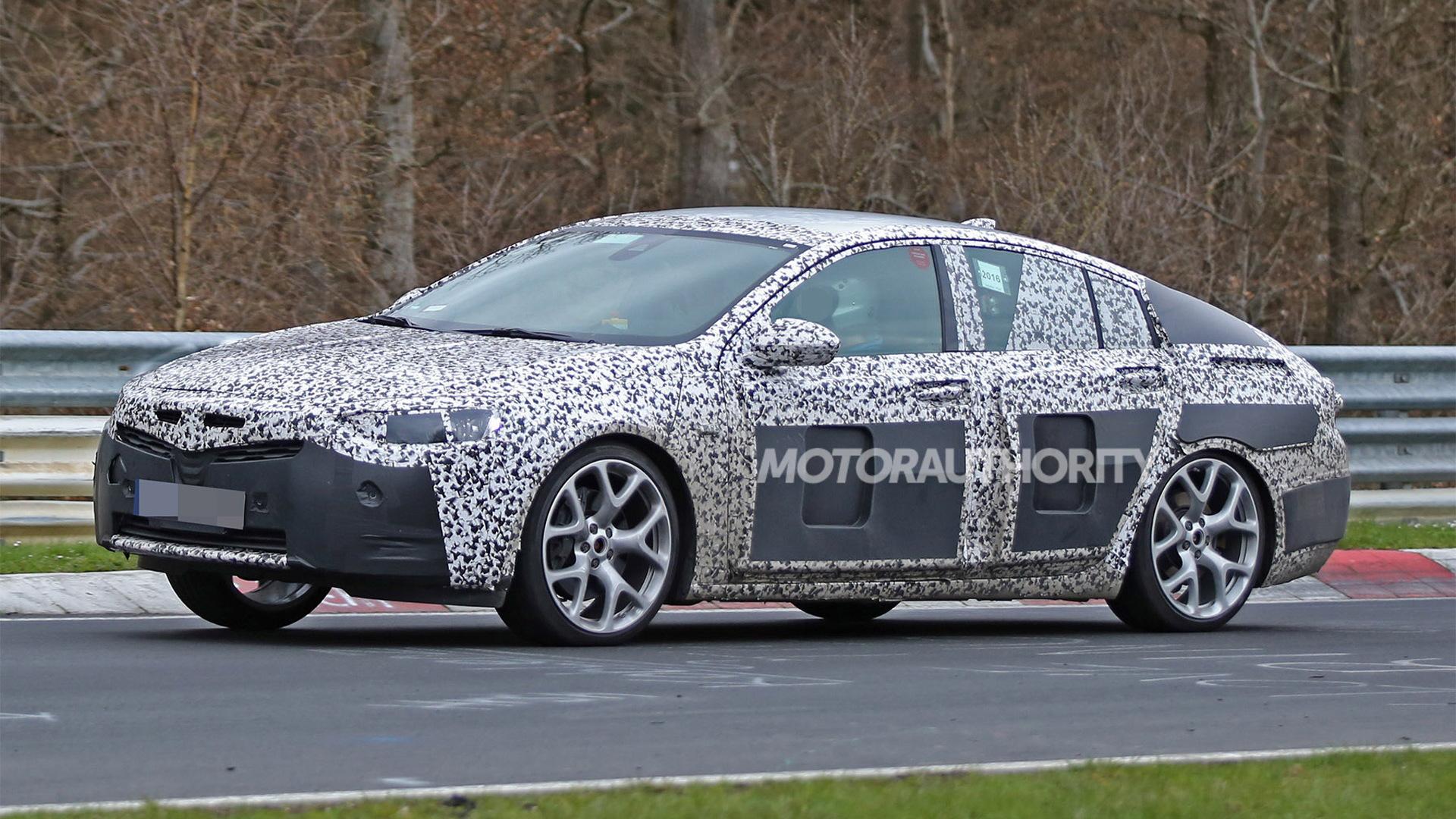 2017 Opel Insignia OPC spy shots - Image via S. Baldauf/SB-Medien