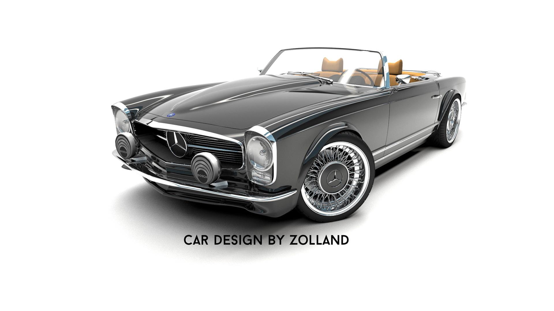 Zolland Design retro conversion for the fifth-generation Mercedes-Benz SL