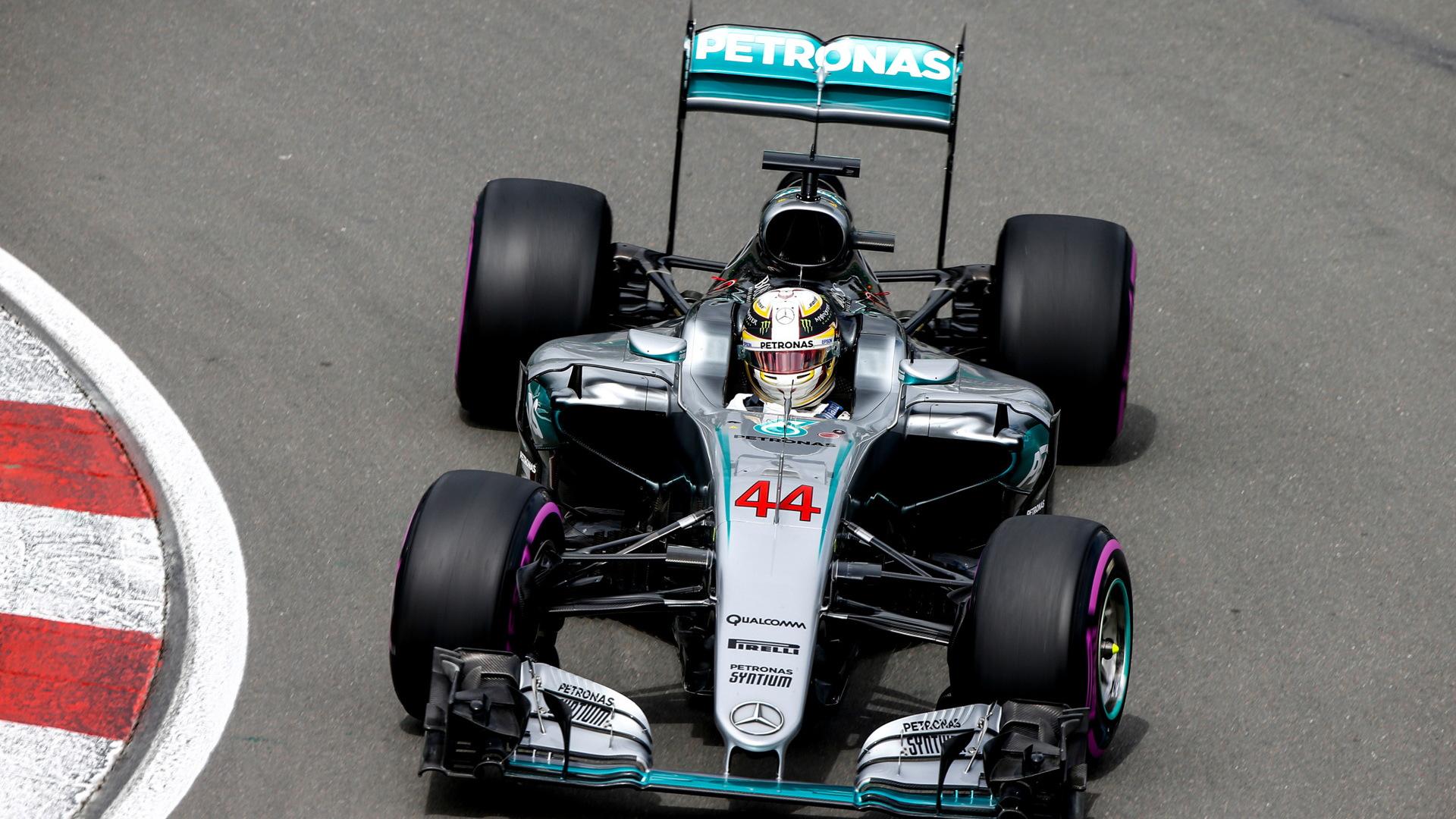Mercedes AMG's Lewis Hamilton at the 2016 Formula One Canadian Grand Prix