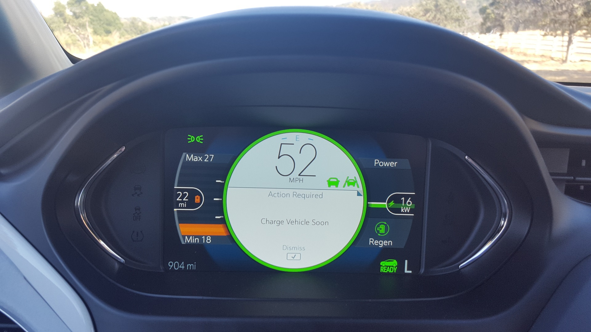 2017 Chevrolet Bolt EV, road test, California coastline, Sep 2016