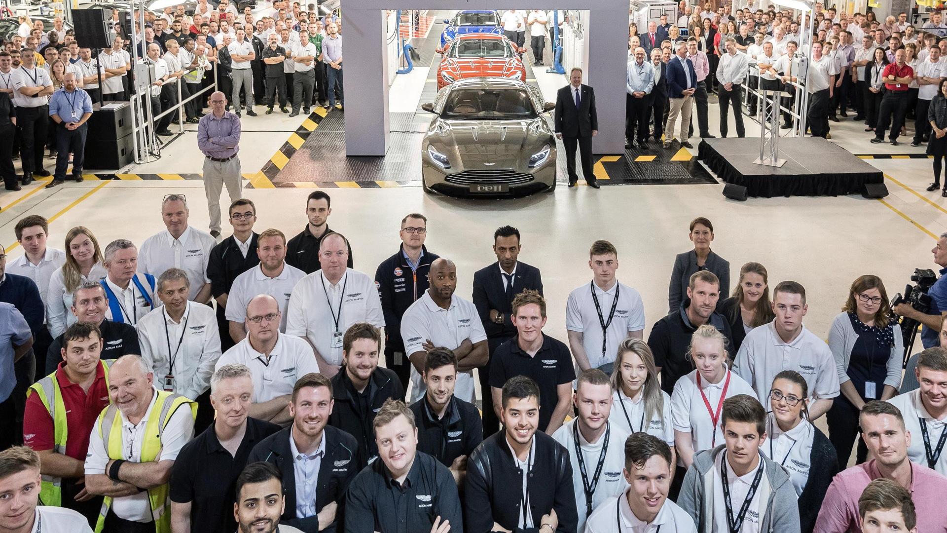 Aston Martin DB11 production starts in Gaydon, United Kingdom - September 2016