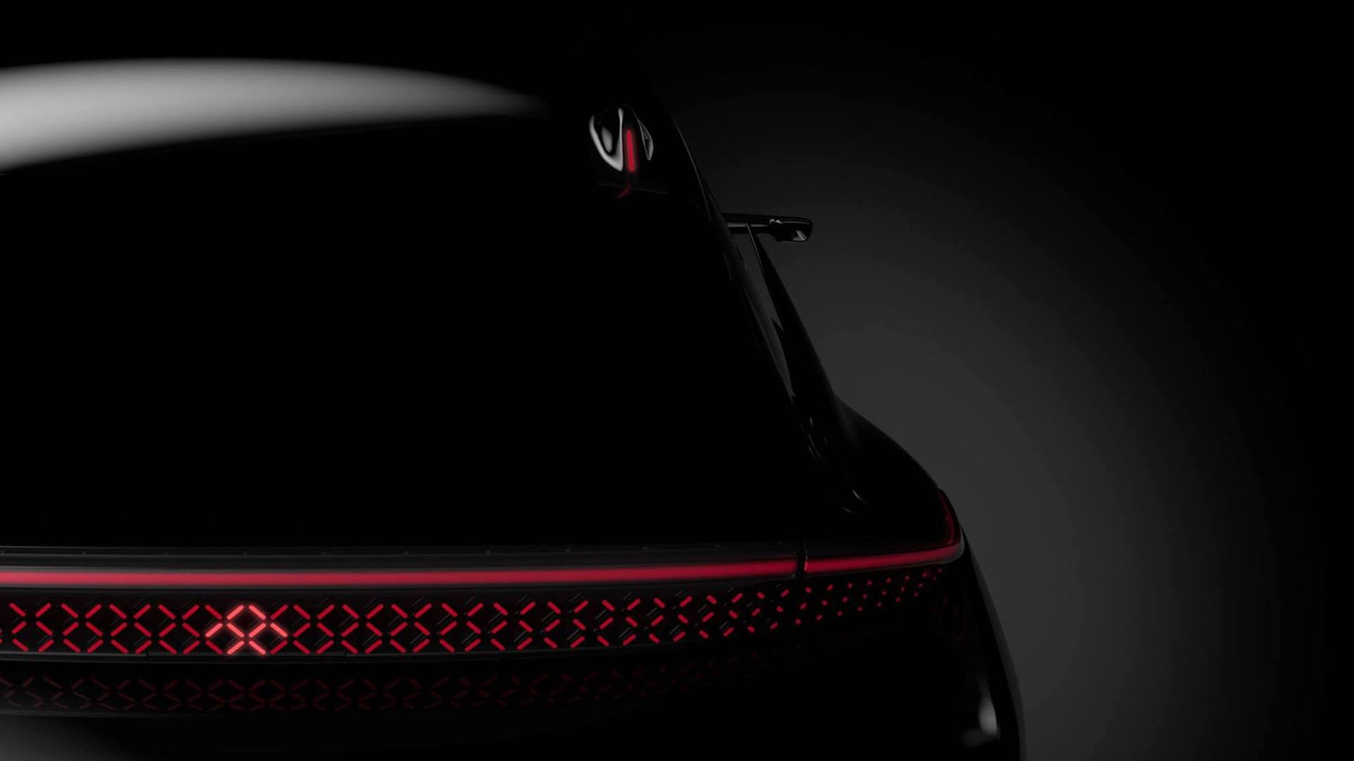 Teaser for Faraday Future elecric car debuting at 2017 Consumer Electronics show