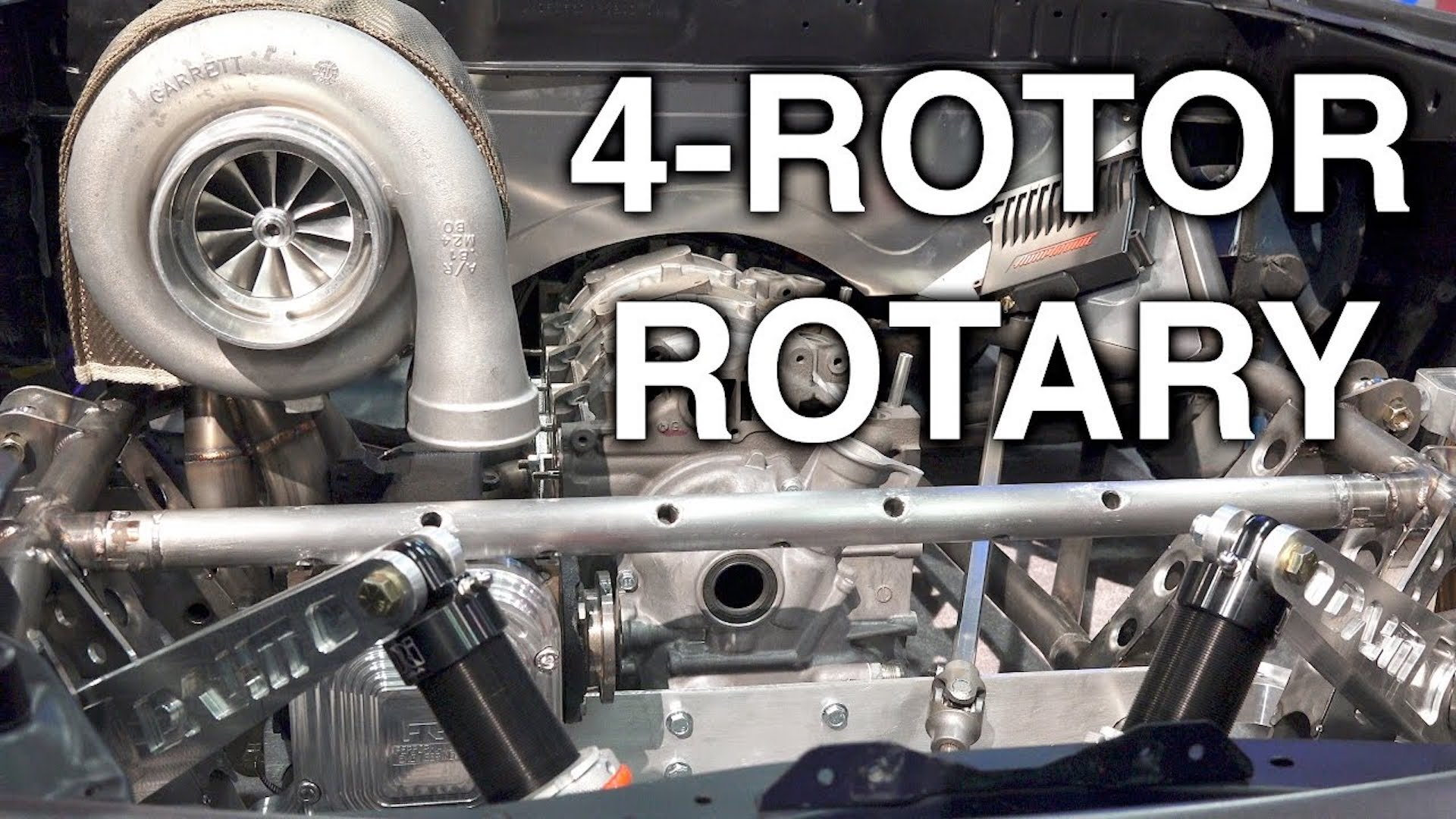 How the elusive 4-rotor rotary engine works