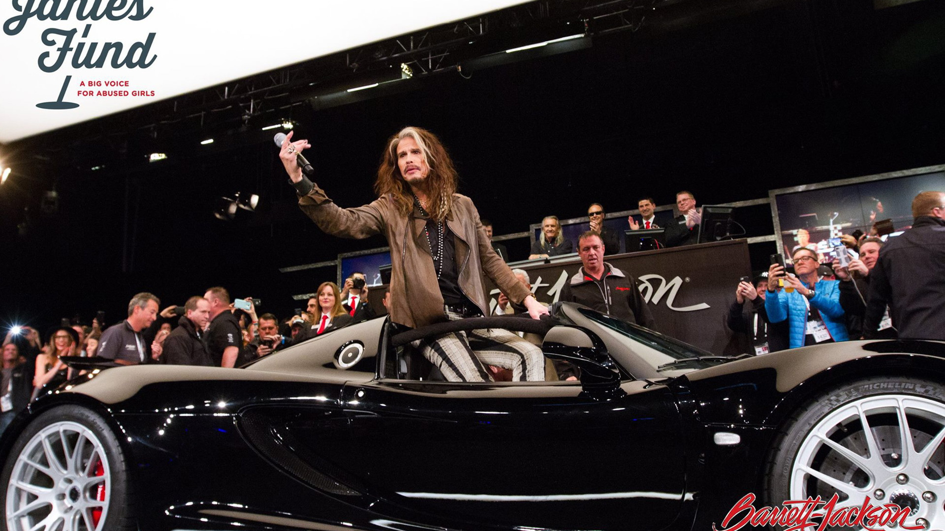 Steven Tyler at the auction of his 2013 Hennessey Venom GT Spyder - January, 2017