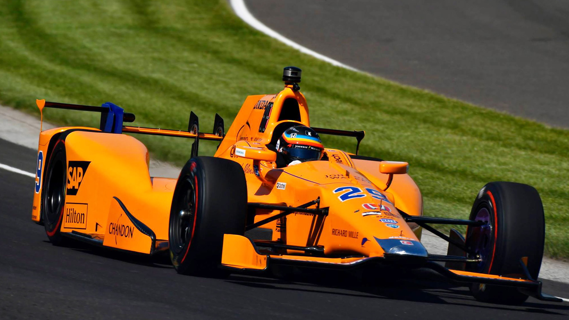 Fernando Alonso during qualifying for the 2017 Indianapolis 500