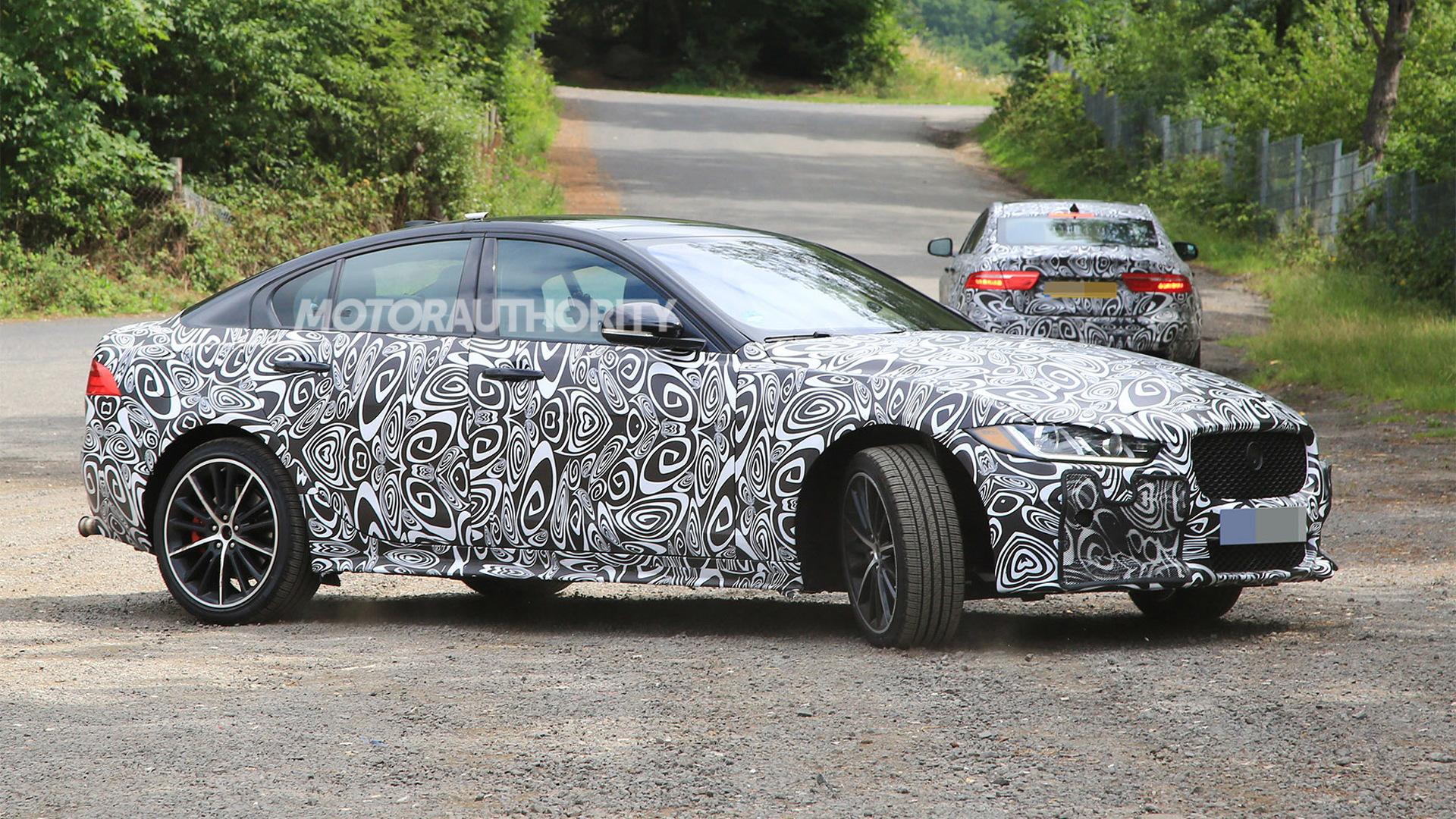 2019 Jaguar XE SVR spy shots - Image via S. Baldauf/SB-Medien