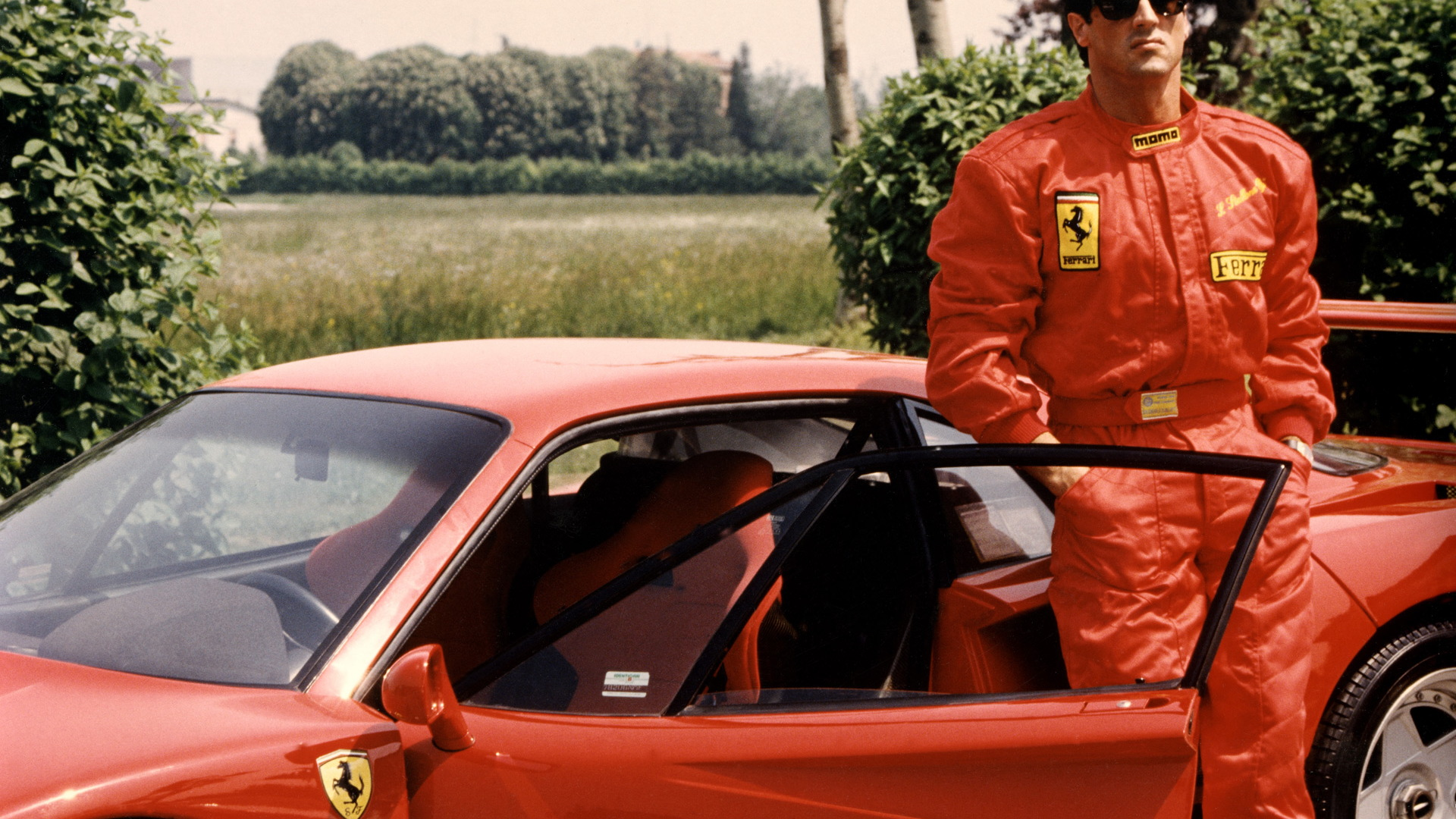 Sylvester Stallone with the Ferrari 40