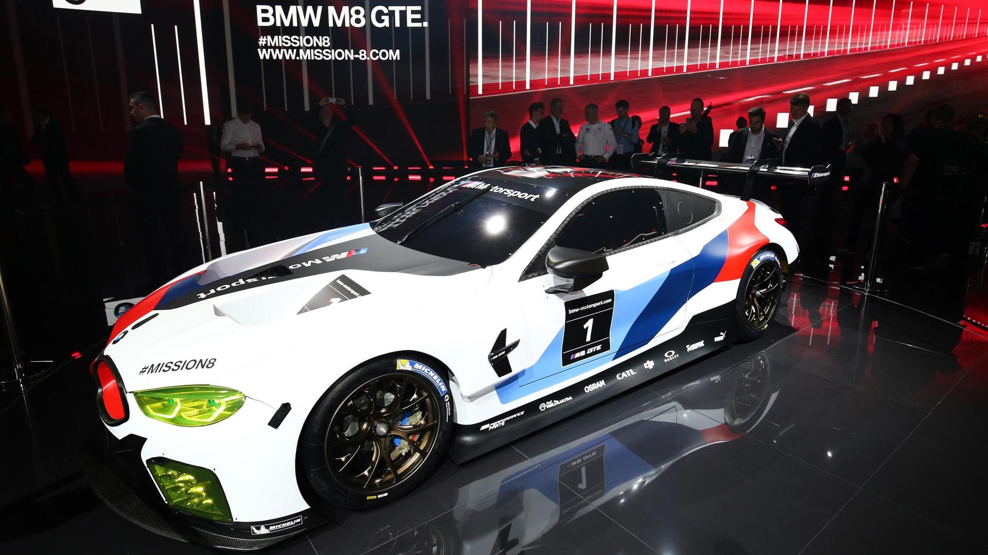2018 BMW M8 GTE racecar, 2017 Frankfurt Motor Show