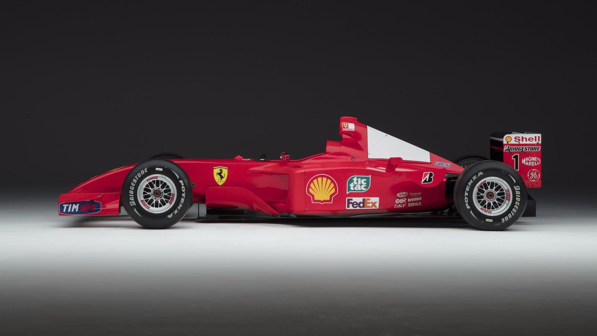 Michael Schumacher's Ferrari F2001 race car from the 2001 Formula 1 World Championship