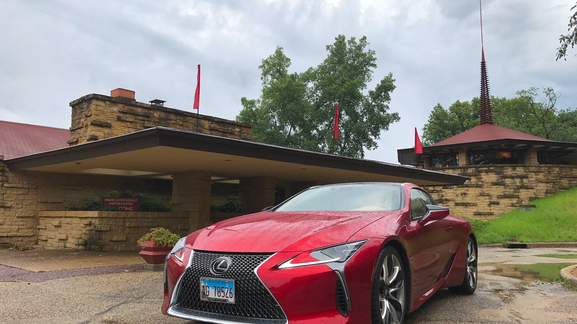2018 Lexus LC 500 at the Taliesin Visitors Center