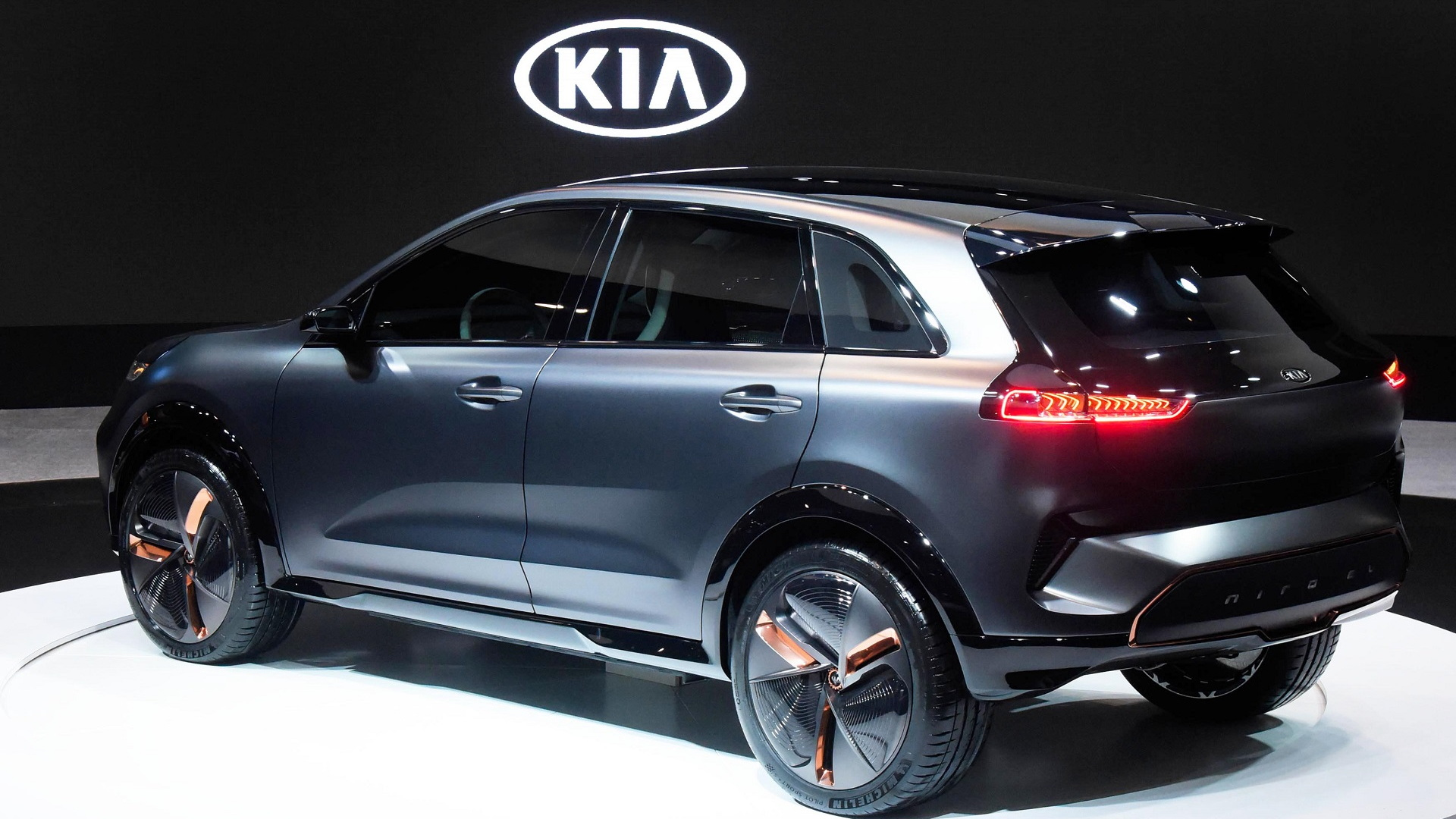Kia Niro EV concept shown at 2018 Consumer Electronics Show, Las Vegas