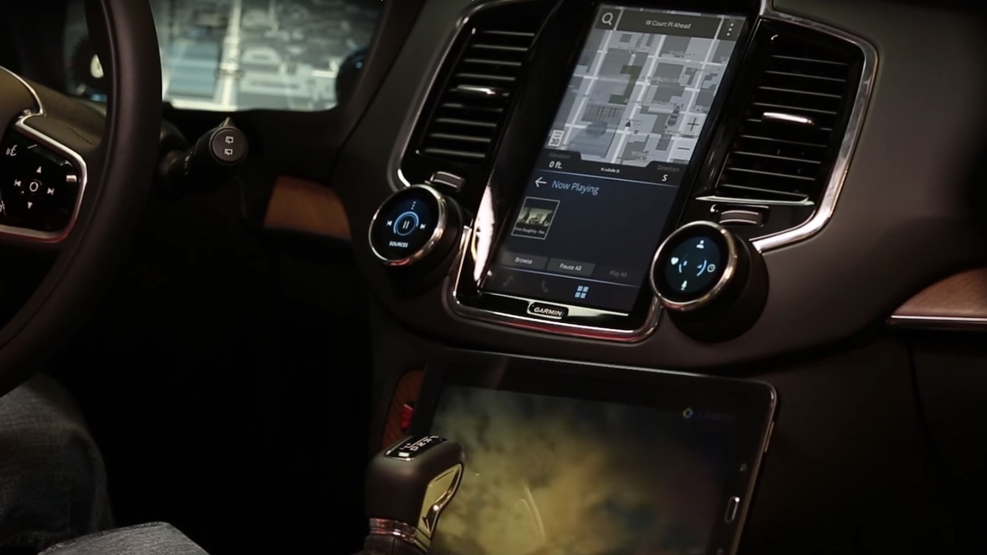Garmin next-generation infotainment system previewed in future Volvo interior
