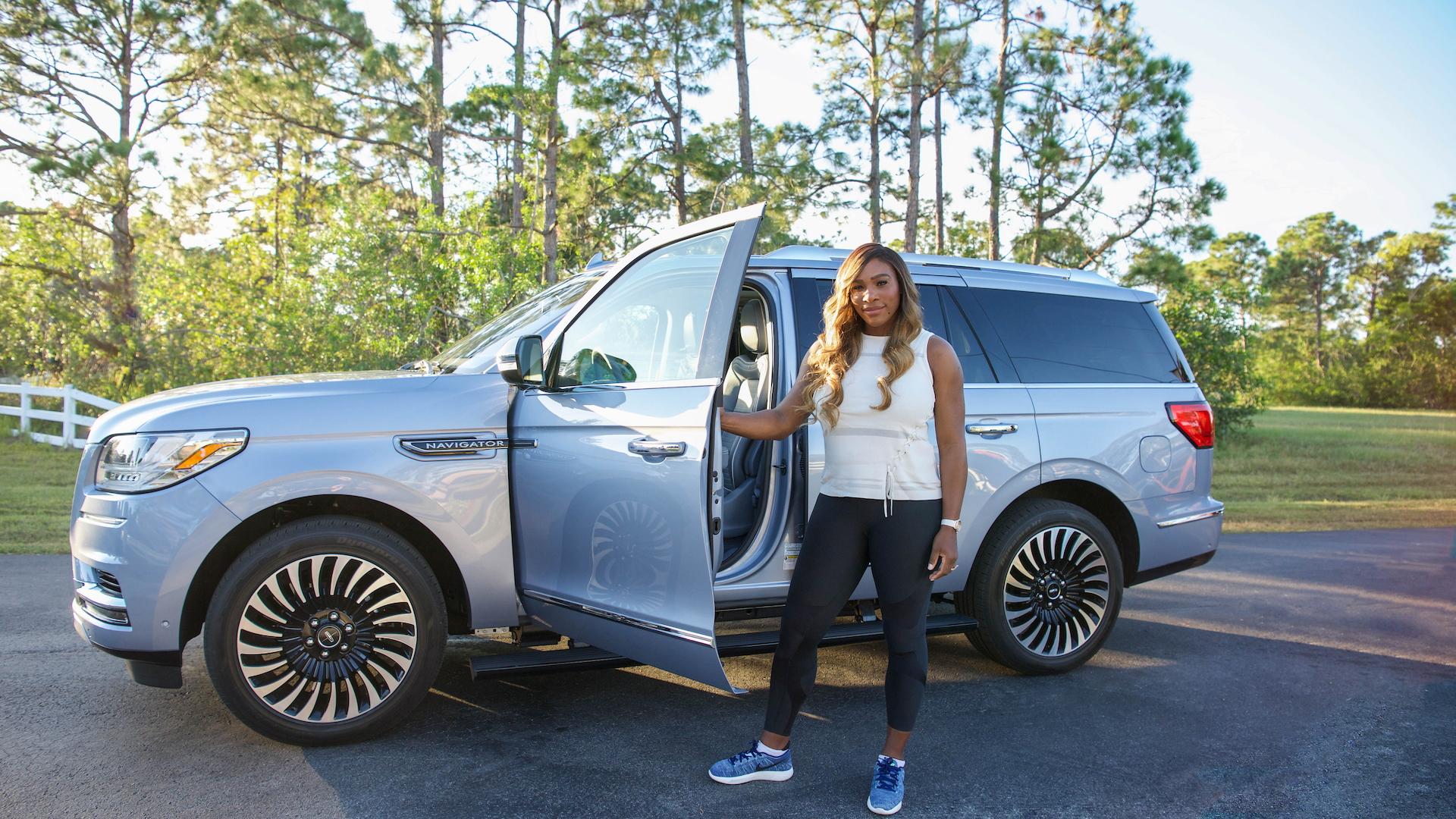 Lincoln Navigator with brand ambassador Serena Williams