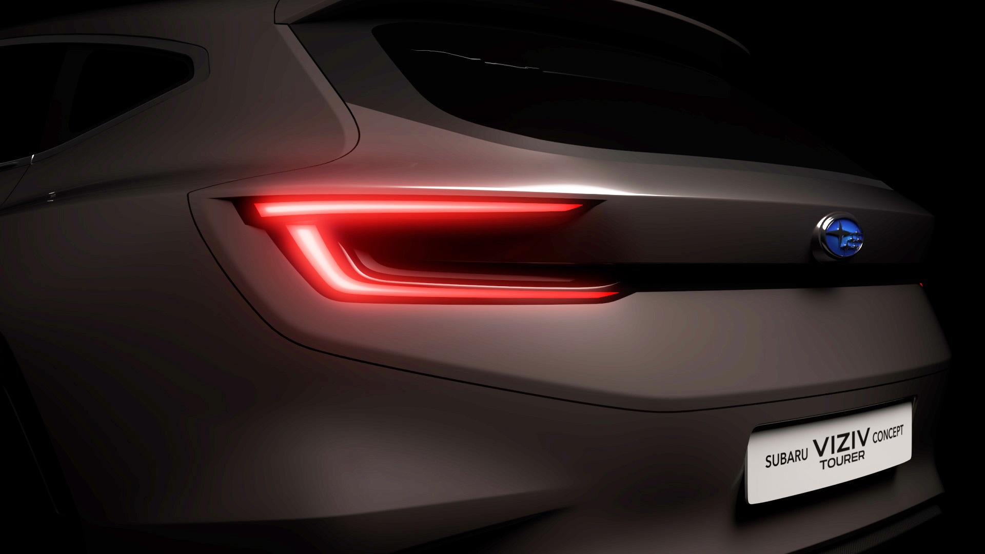 Teaser for Subaru Viziv Tourer concept debuting at 2018 Geneva auto show