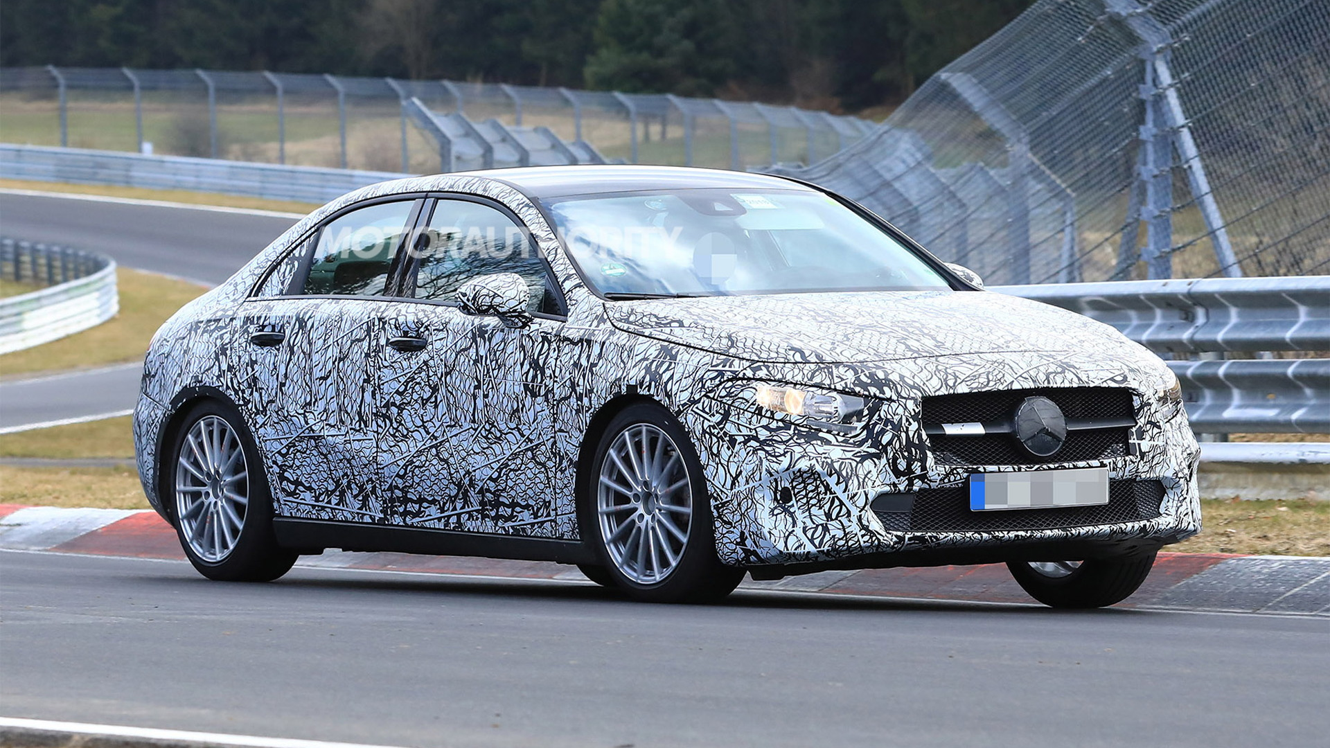 2019 Mercedes-Benz A-Class sedan spy shots - Image via S. Baldauf/SB-Medien