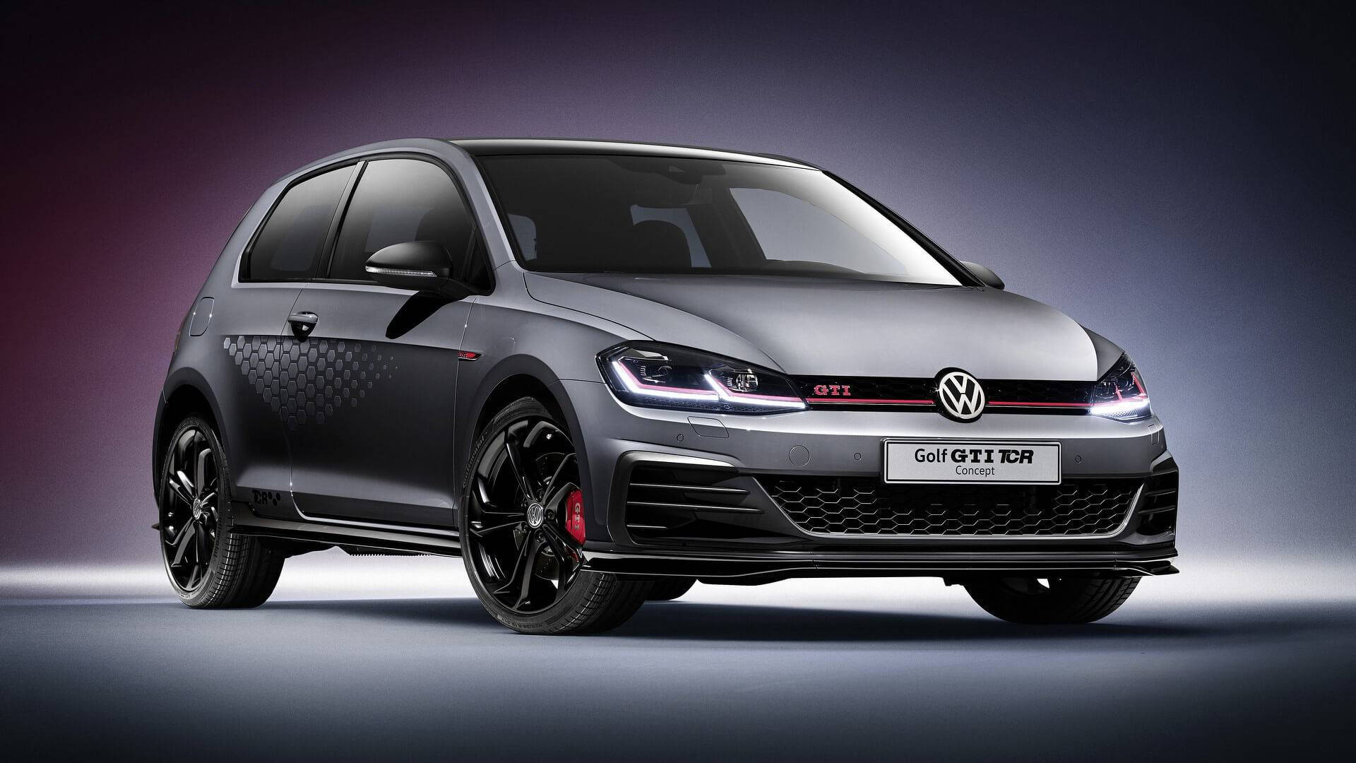 290 Horsepower Vw Golf Gti Tcr Road Car Previewed By Concept