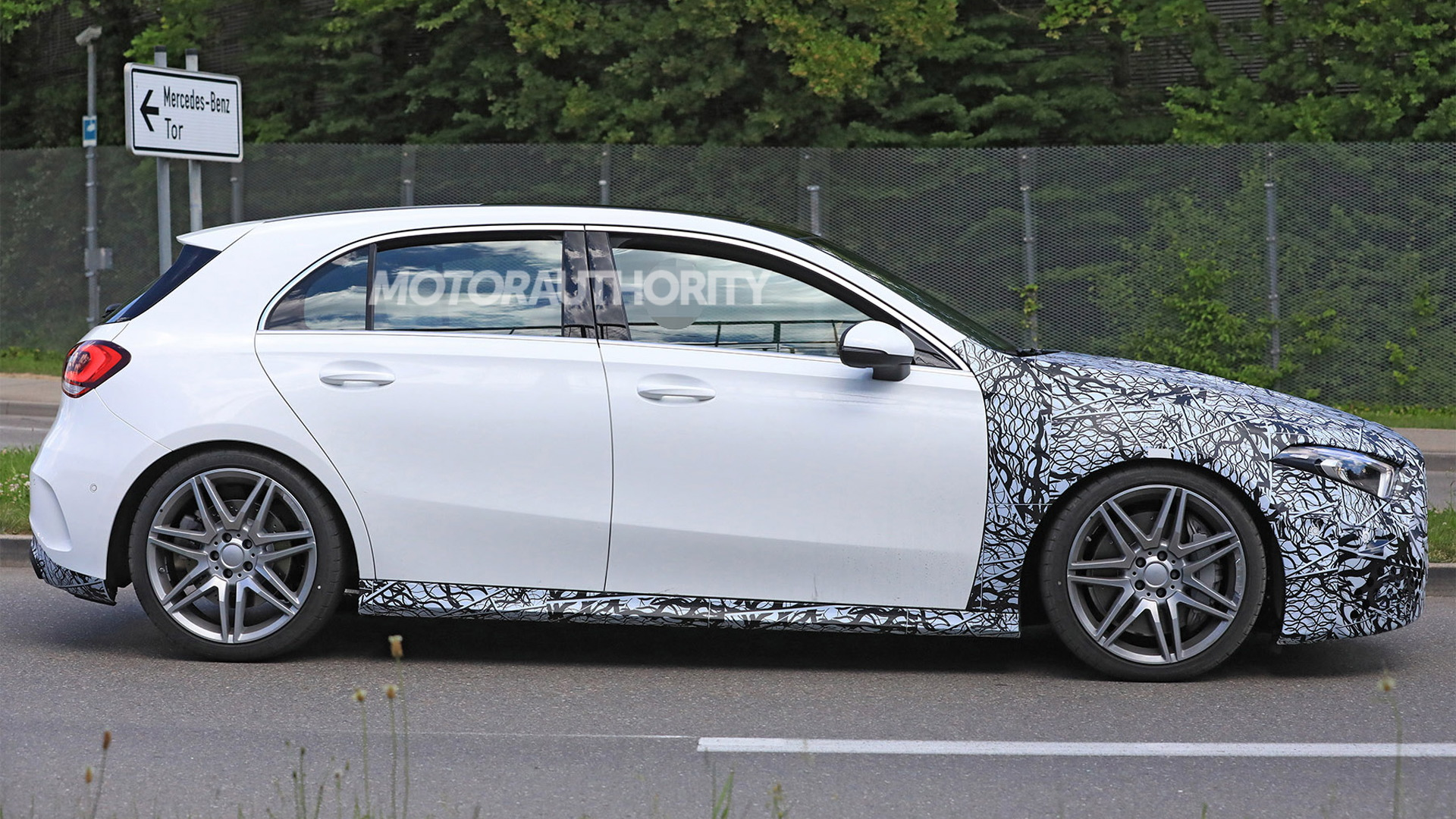 2020 mercedes amg a45 hatchback spy shots and video. Black Bedroom Furniture Sets. Home Design Ideas