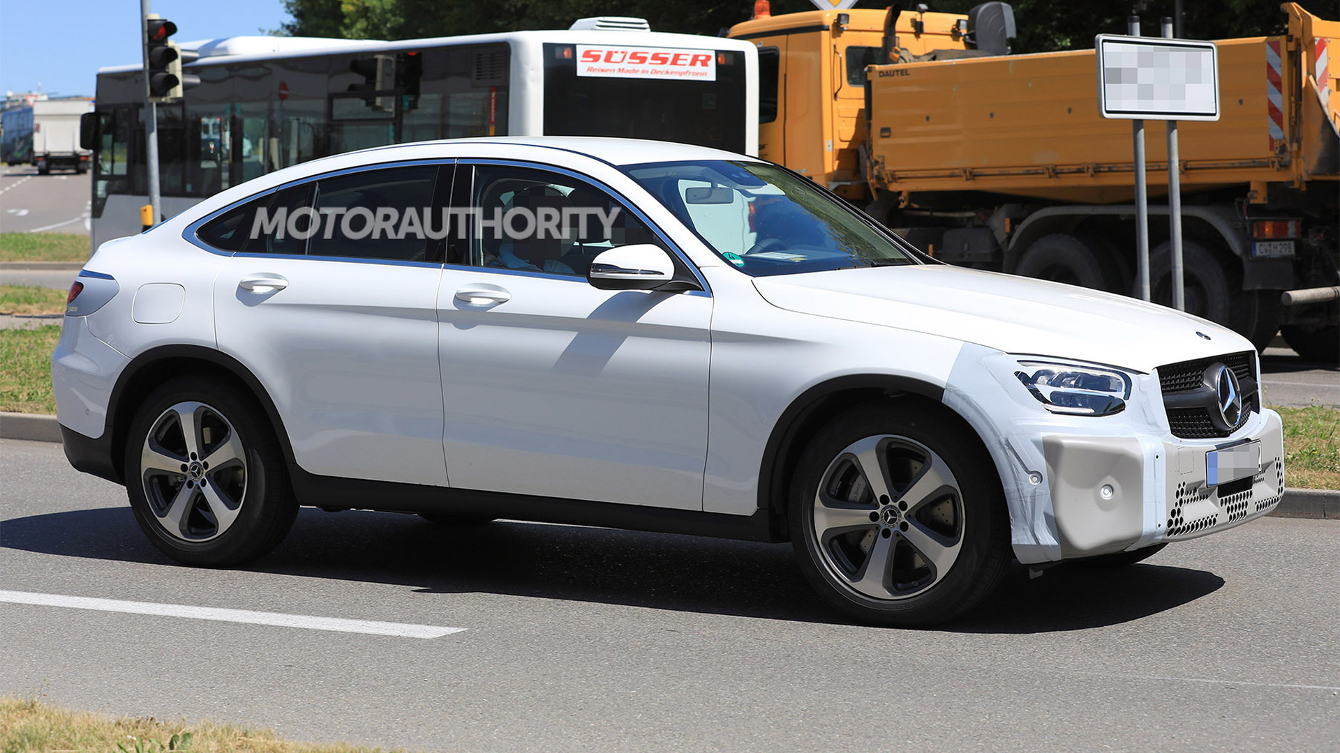 2020 Mercedes-Benz GLC Coupe facelift spy shots - Image via S. Baldauf/SB-Medien