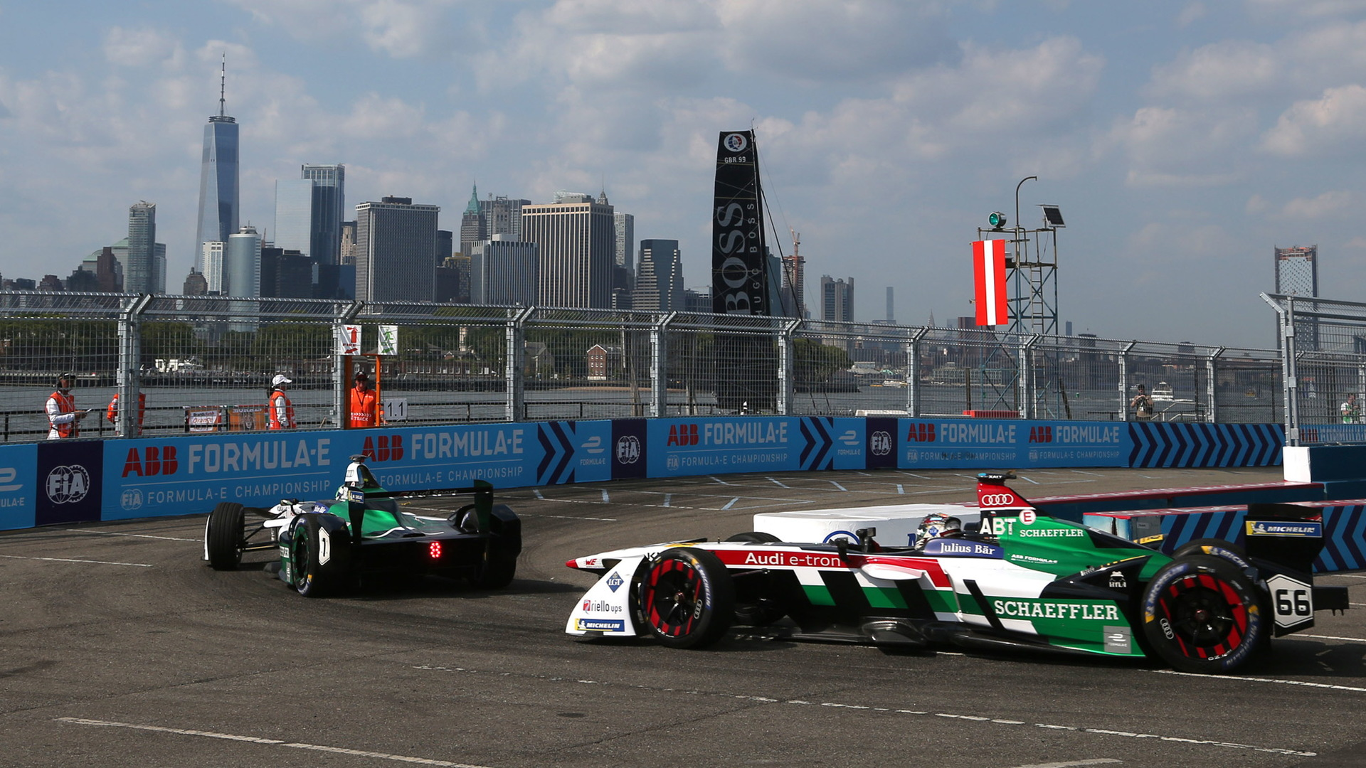 Audi Sport ABT Schaeffler at the 2017/2018 Formula E New York ePrix