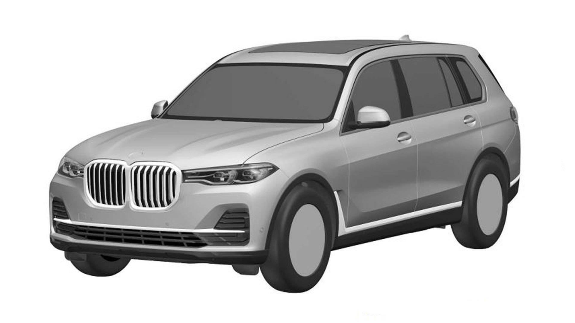 BMW X7 patent drawing