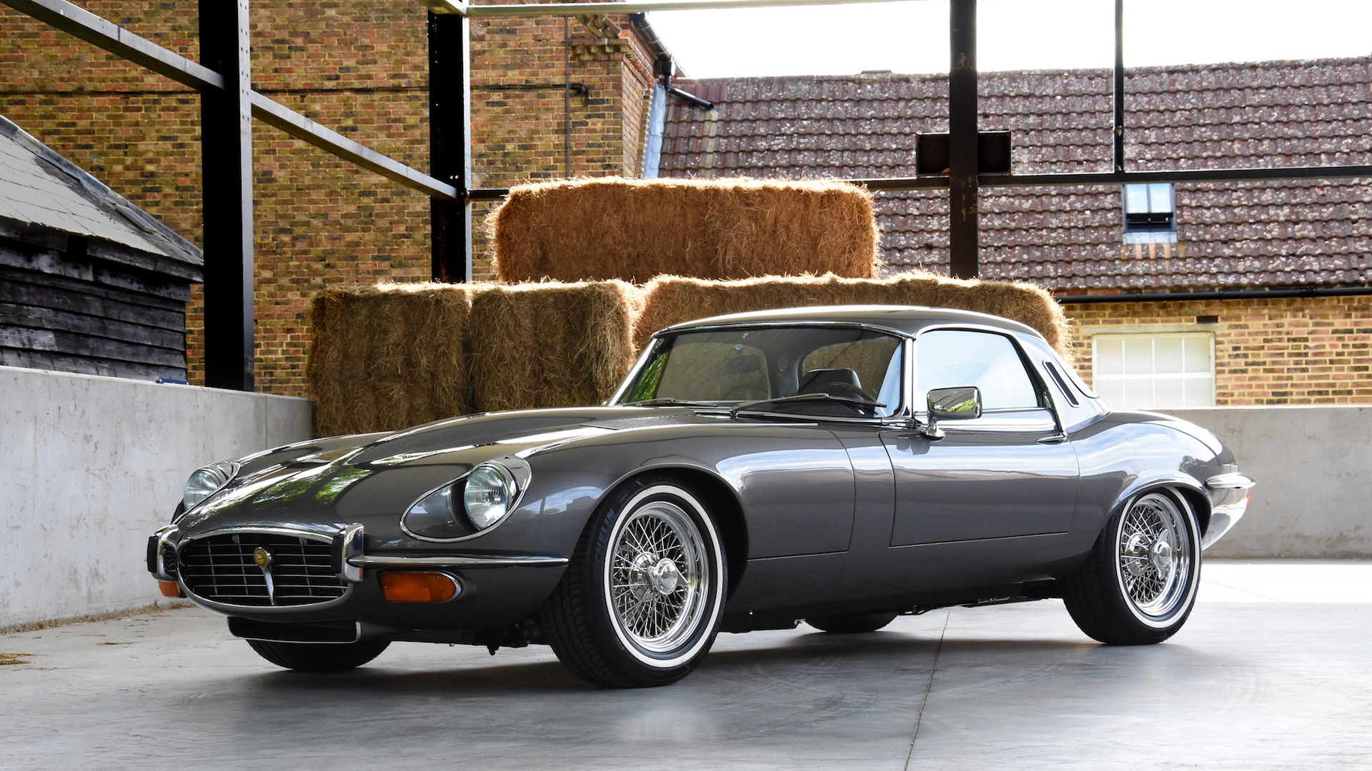 E-Type UK Series 3 restomod with 6.1-liter V-12 engine
