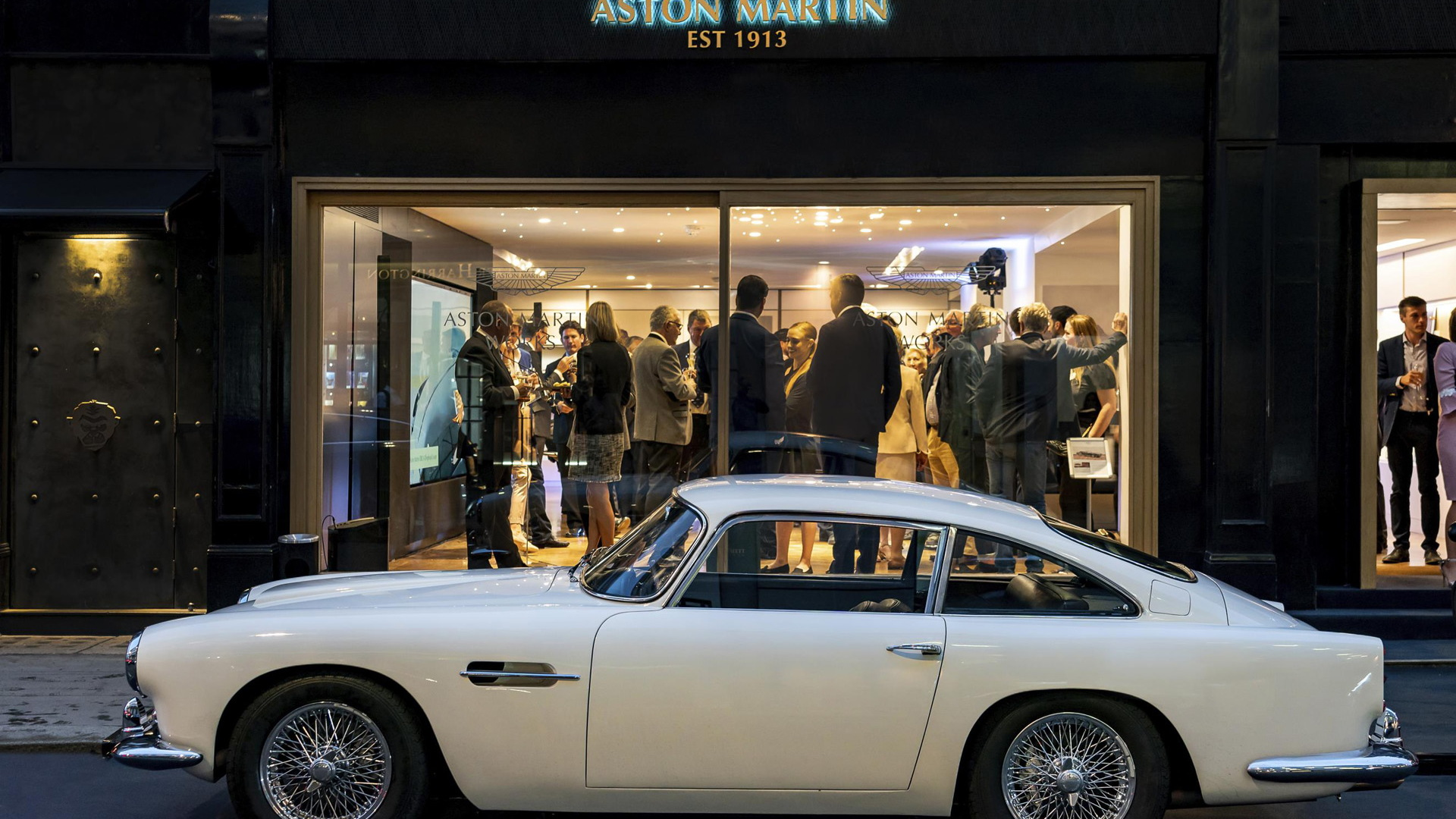 Aston Martin Works classic car showroom in central London