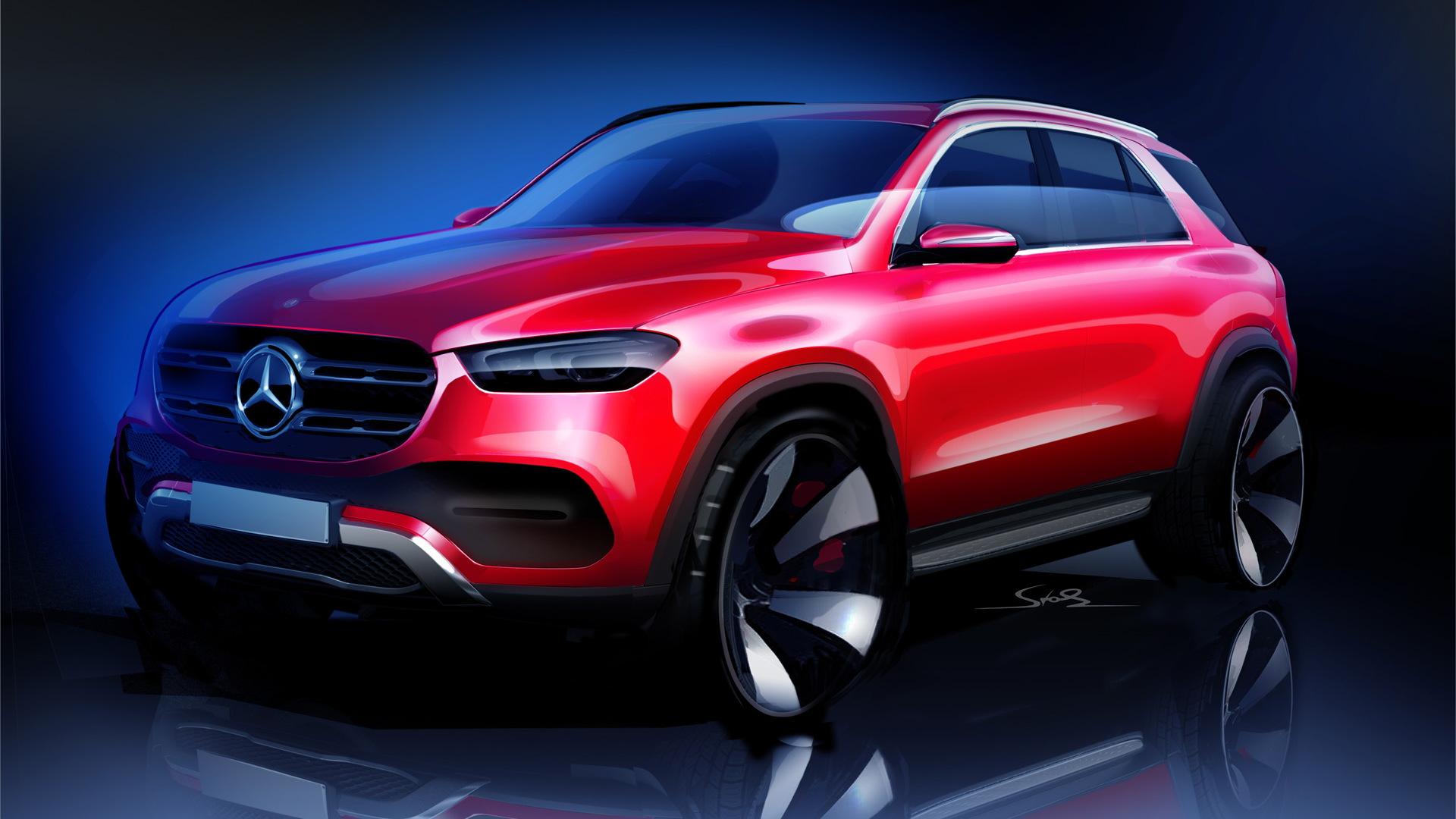 Teaser for 2020 Mercedes-Benz GLE