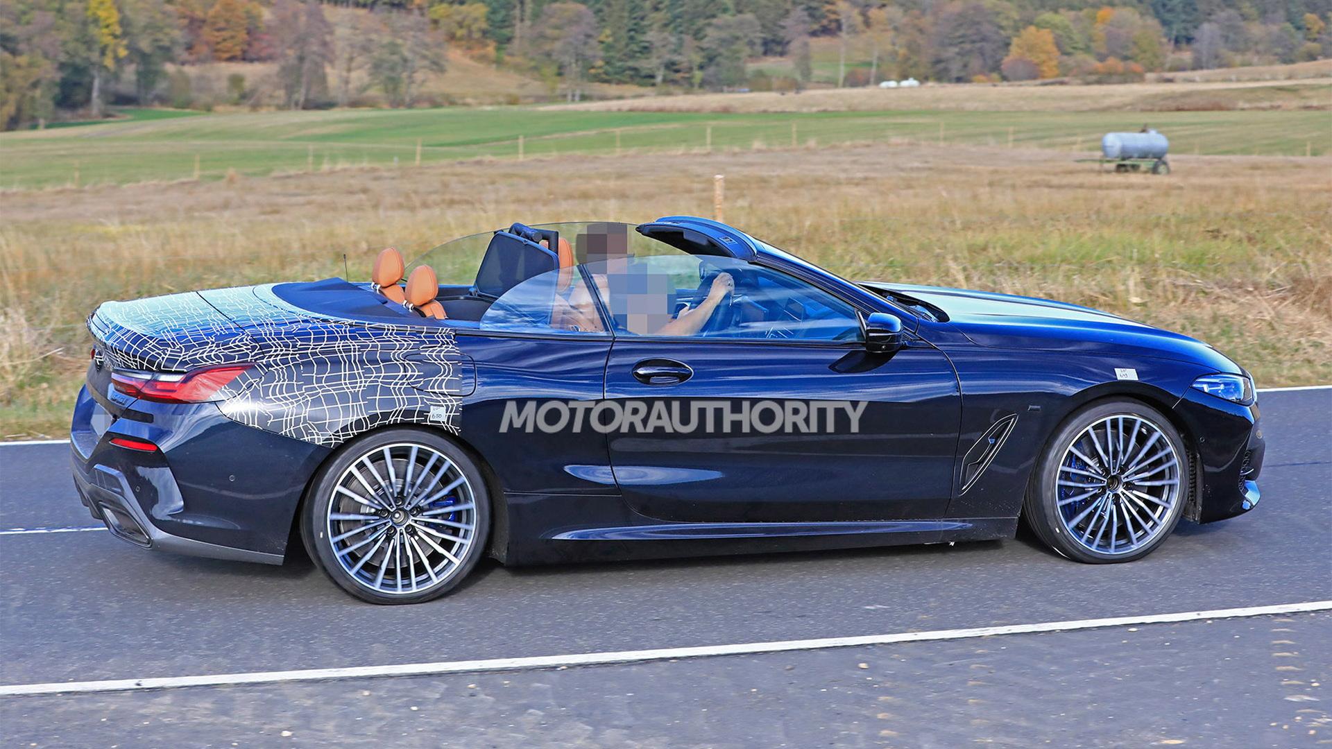 2019 BMW 8-Series Convertible spy shots - Image via S. Baldauf/SB-Medien