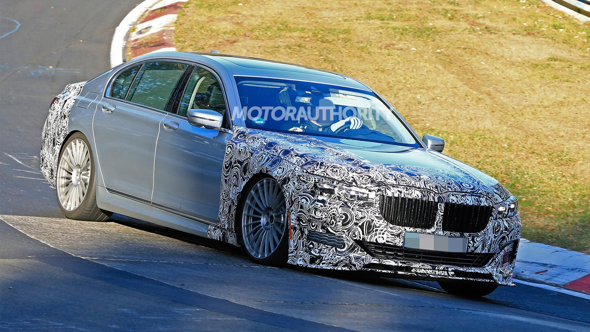 2020 BMW Alpina B7 facelift spy shots - Image via S. Baldauf/SB-Medien