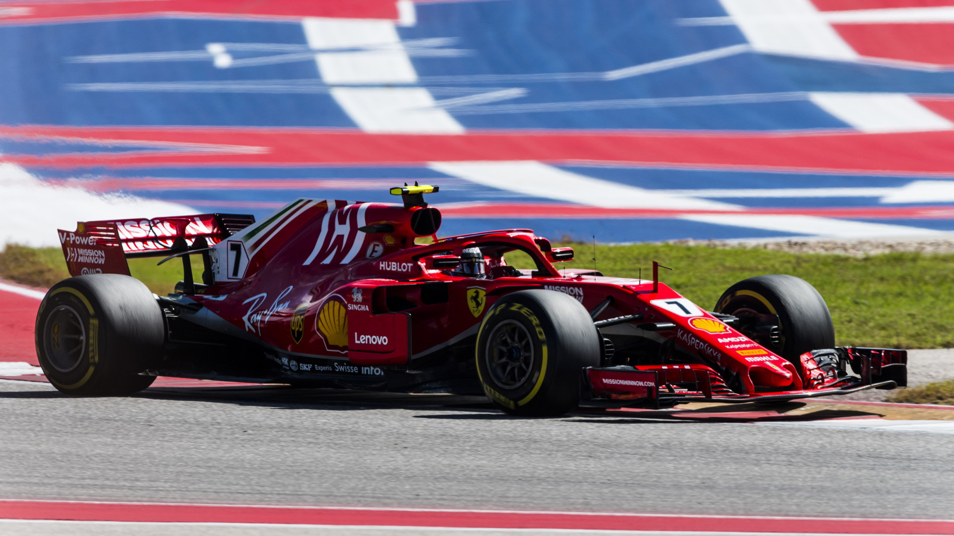 Ferrari's Kimi Räikkönen at the 2018 Formula 1 United States Grand Prix