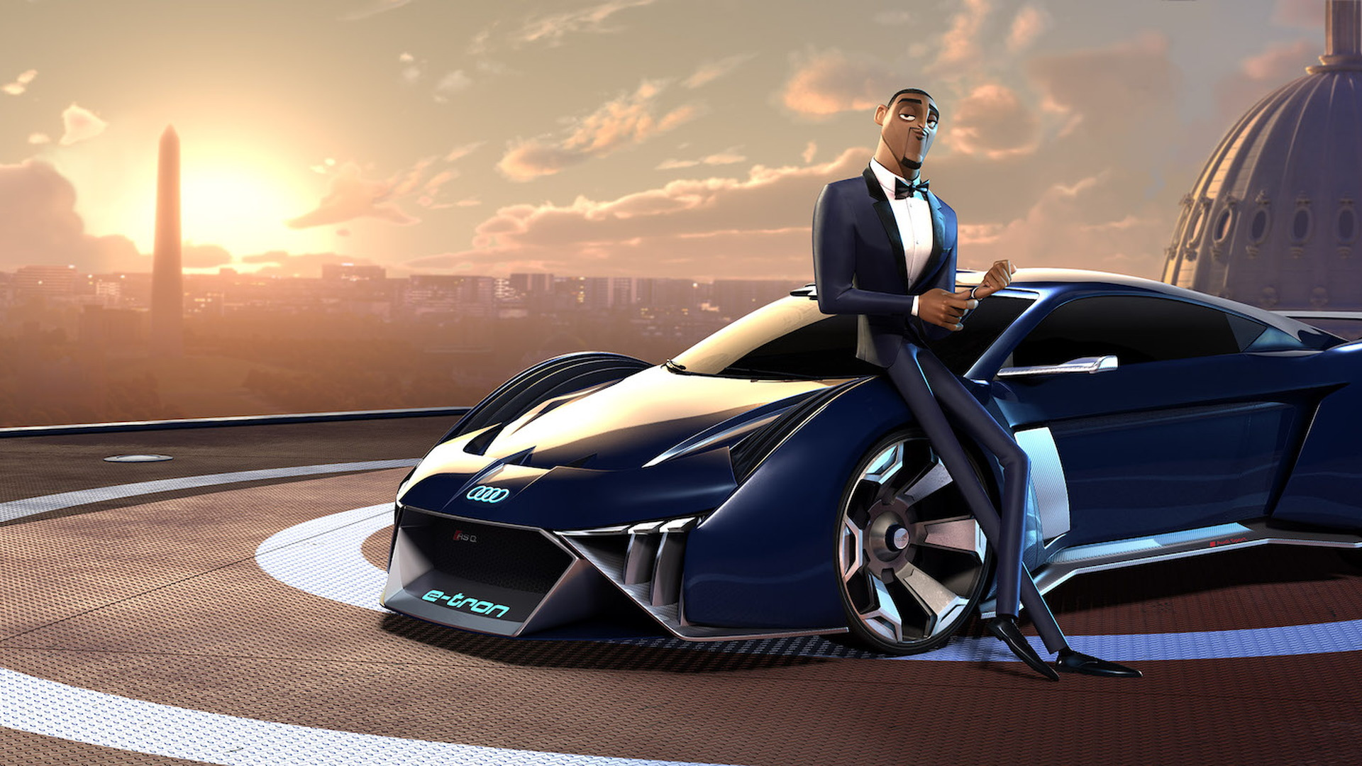 """Audi RSQ e-tron concept in """"Spies In Disguise"""""""