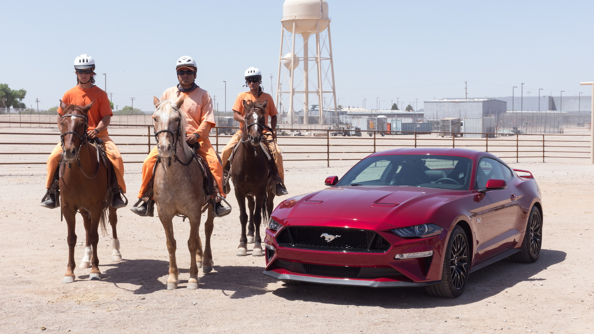 Colton Whiteside, Justin Balderama, and Curtis Gabriel train horses in Florence, Ariz.