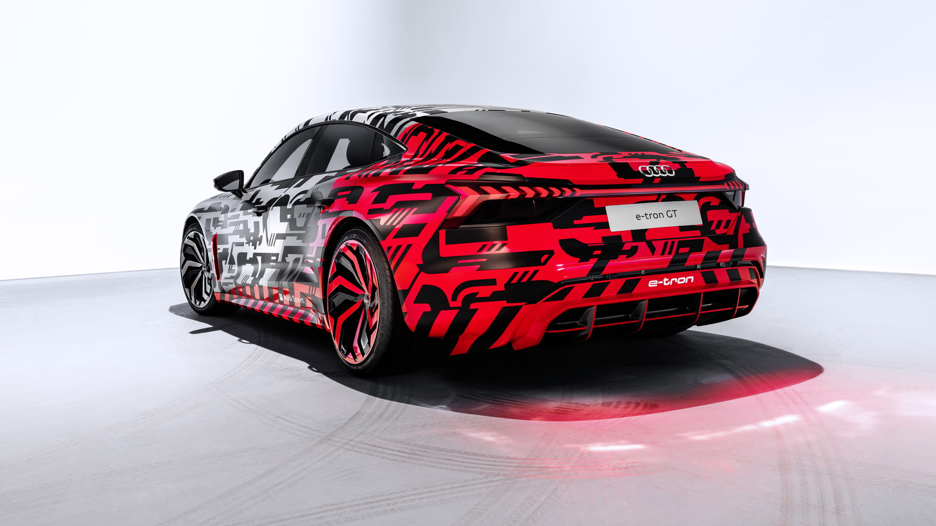 Teaser for Audi e-tron GT concept debuting at 2018 Los Angeles auto show