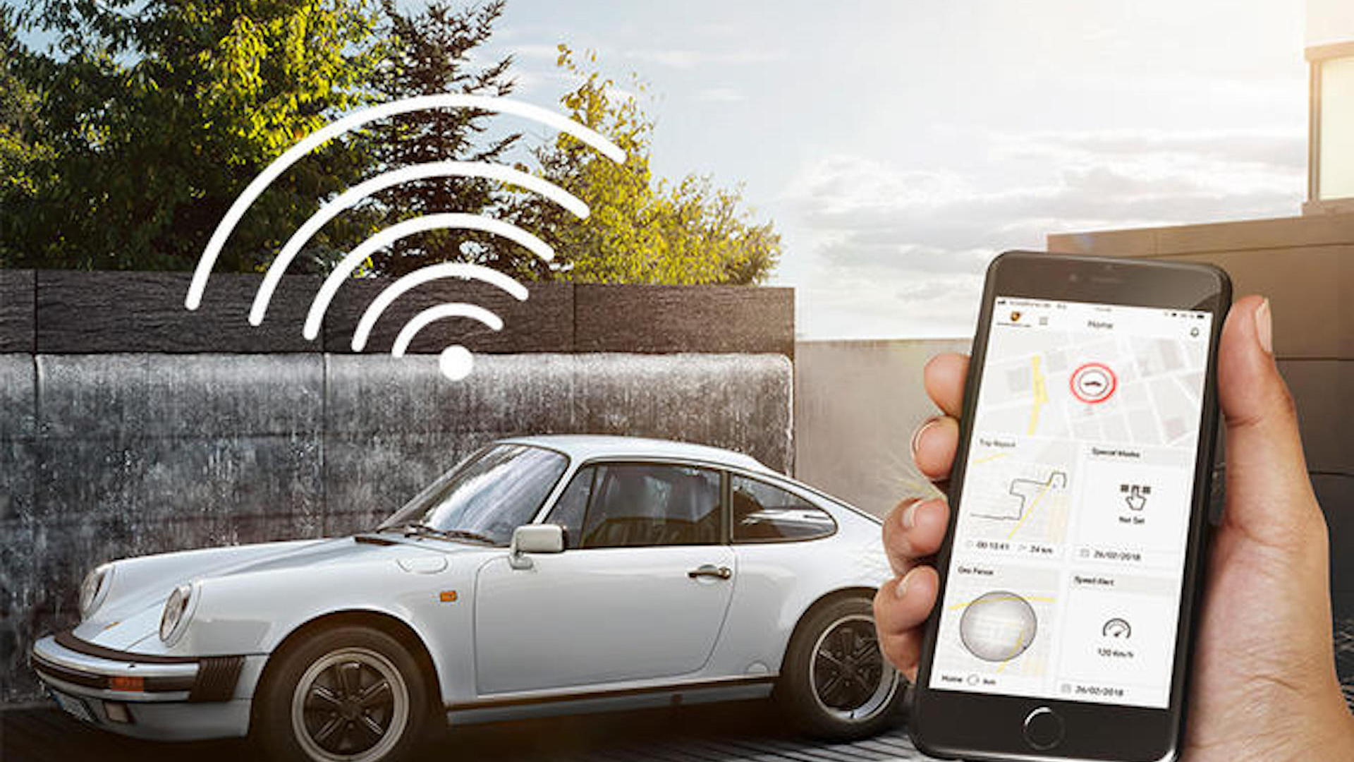 Porsche Classic Vehicle Tracking and Security system