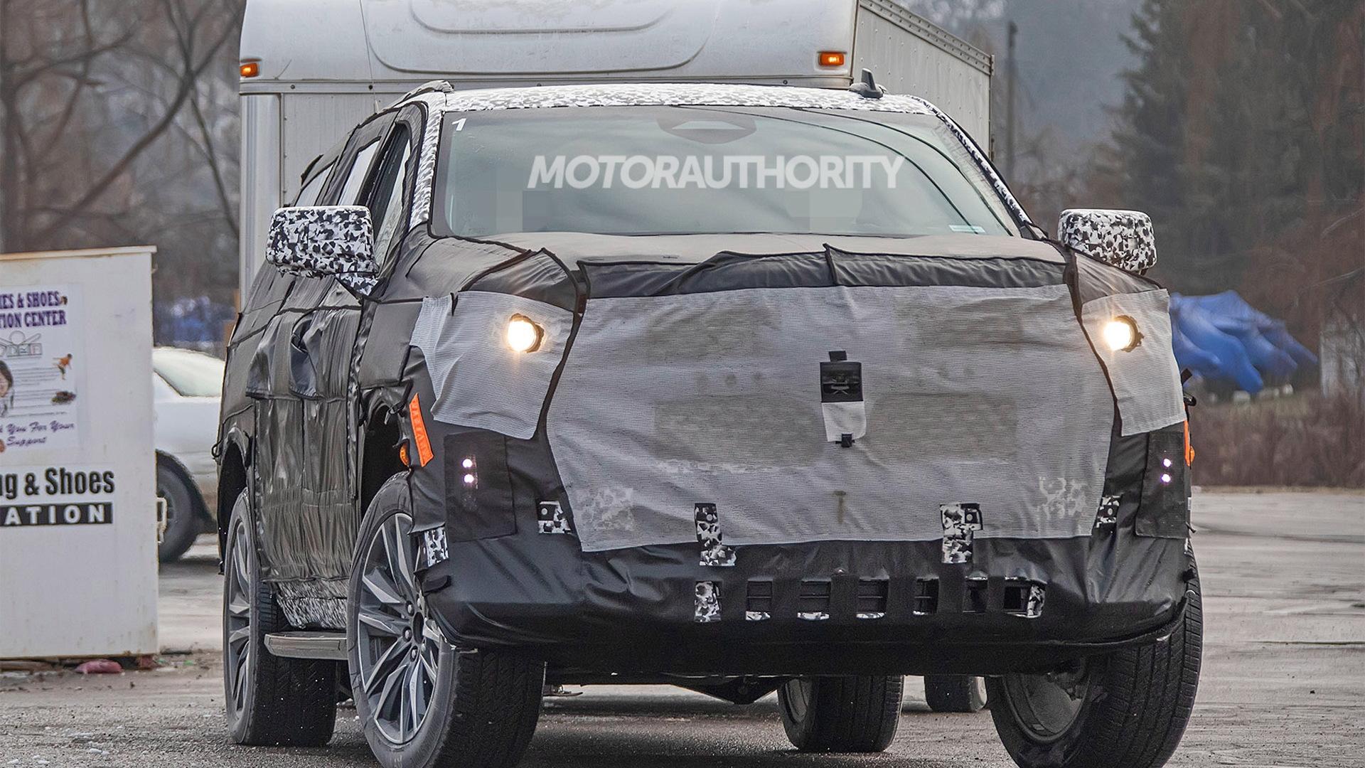 2021 Cadillac Escalade ESV spy shots - Image via S. Baldauf/SB-Medien
