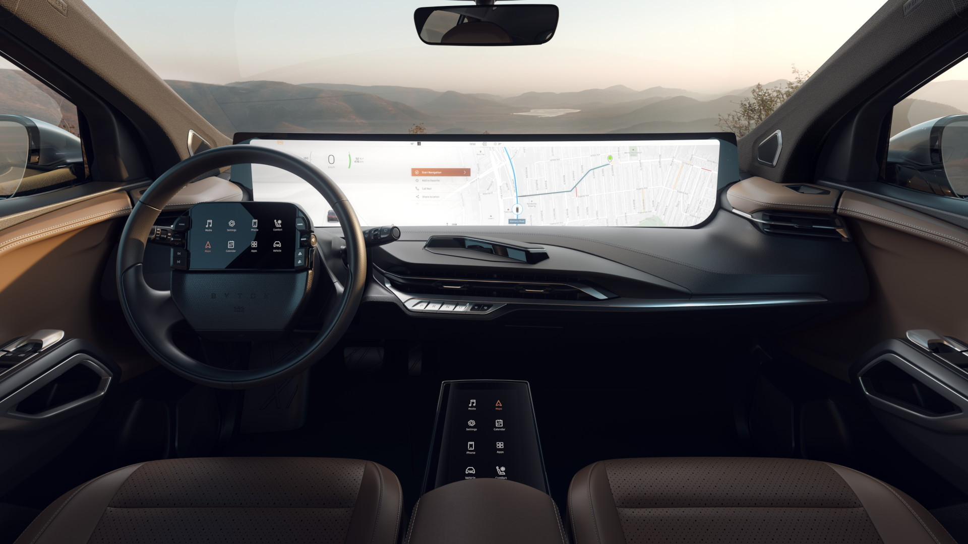 Byton M-Byte interior  -  production prototype for CES 2019