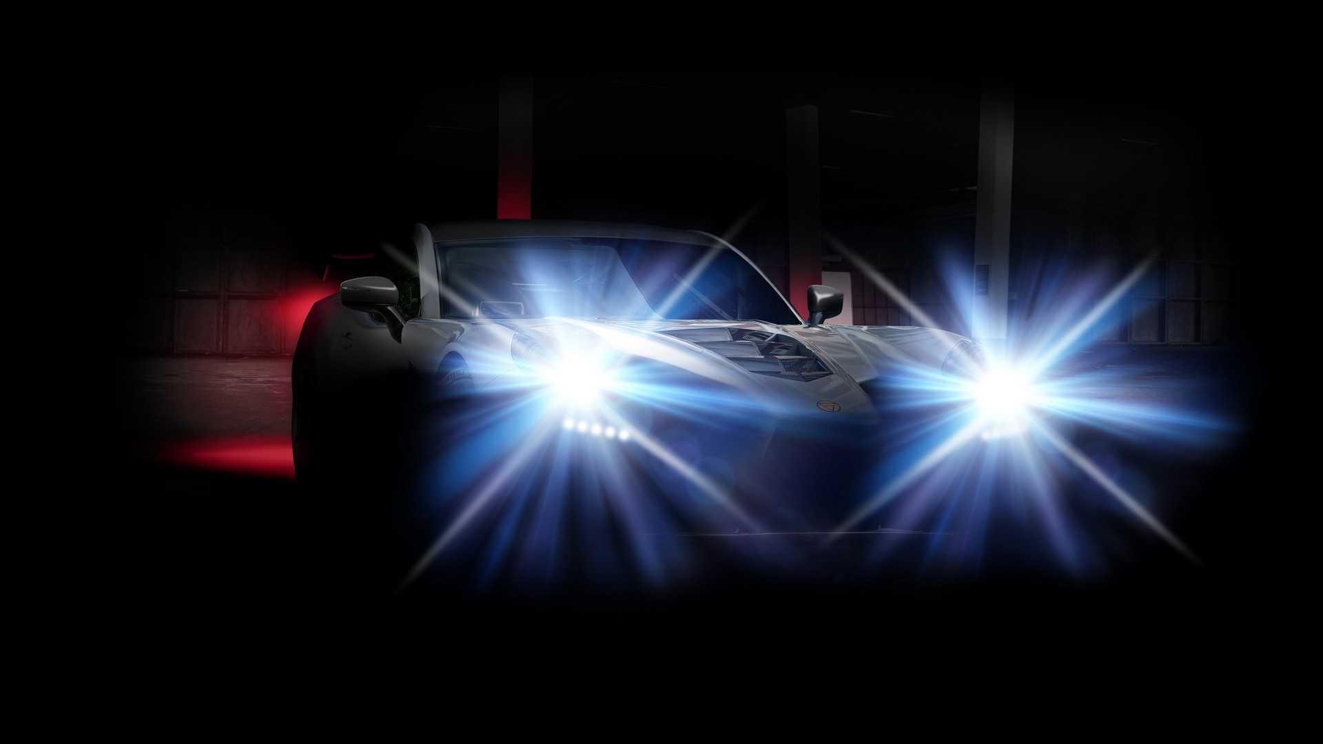 Teaser for Ginetta supercar - January 2019
