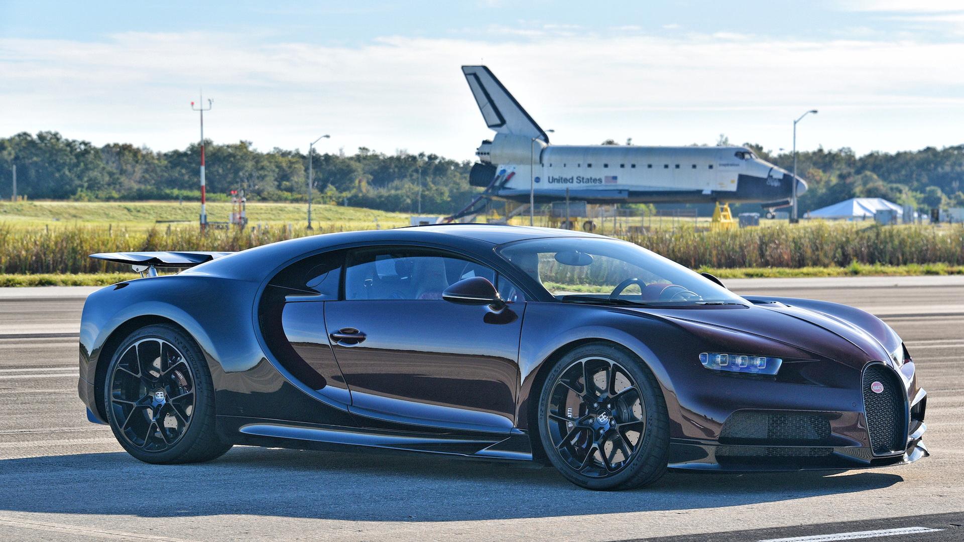 Bugatti Chiron test with astronaut Jon A. McBride