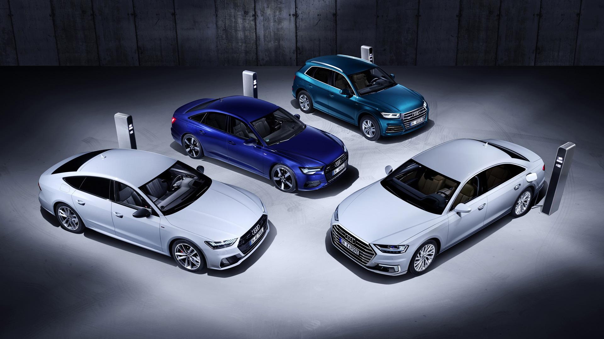 Audi A8, A7, A6 and Q5 plug-in hybrids