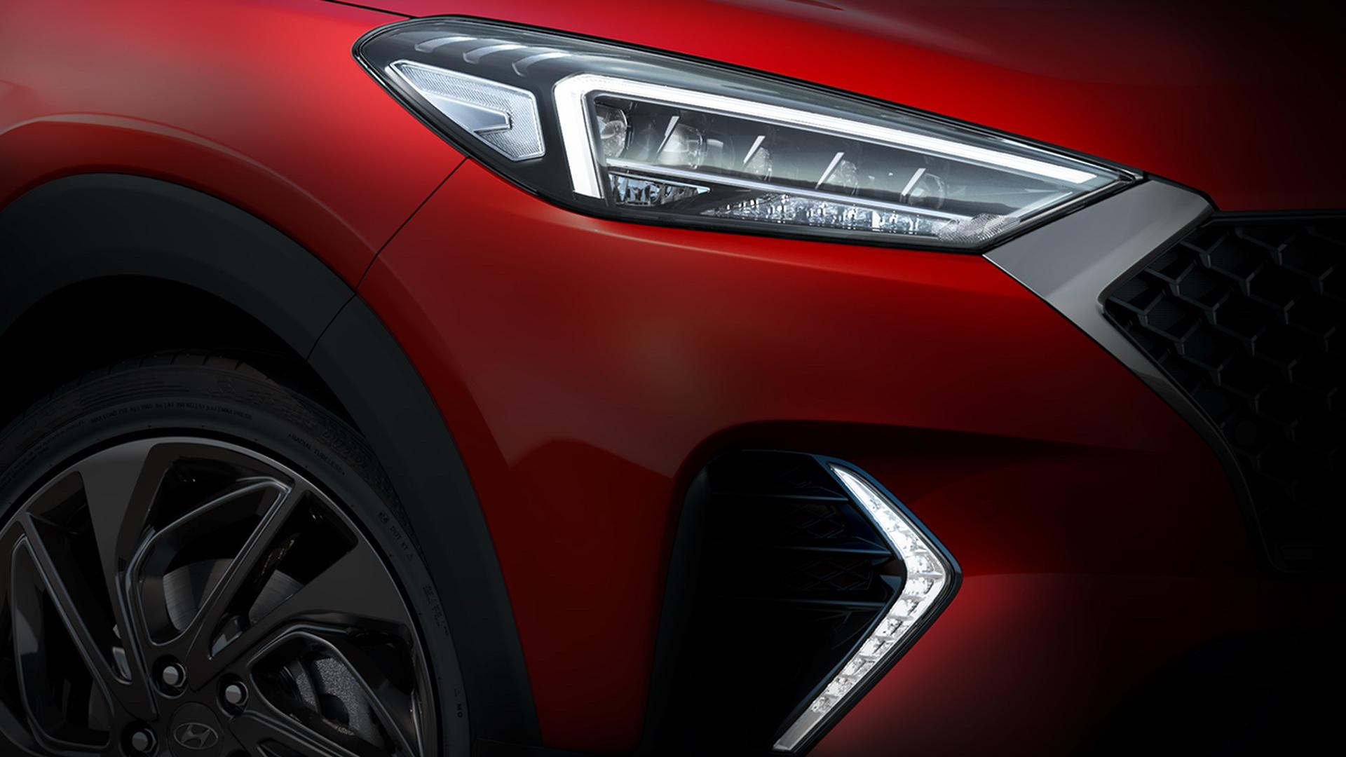 Teaser for Hyundai Tucson N-Line